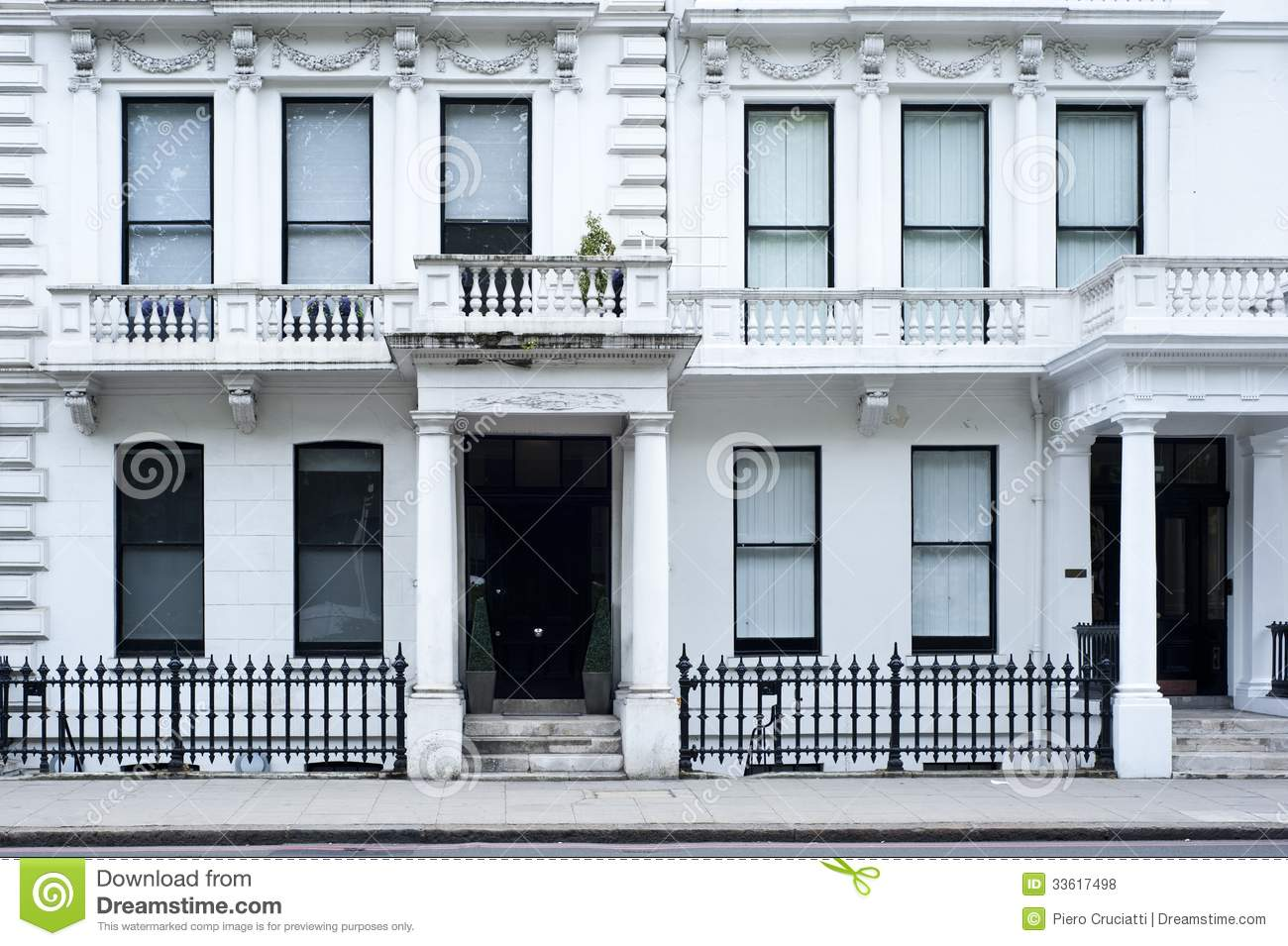 Victorian House Facade In London Stock Photo Image 33617498