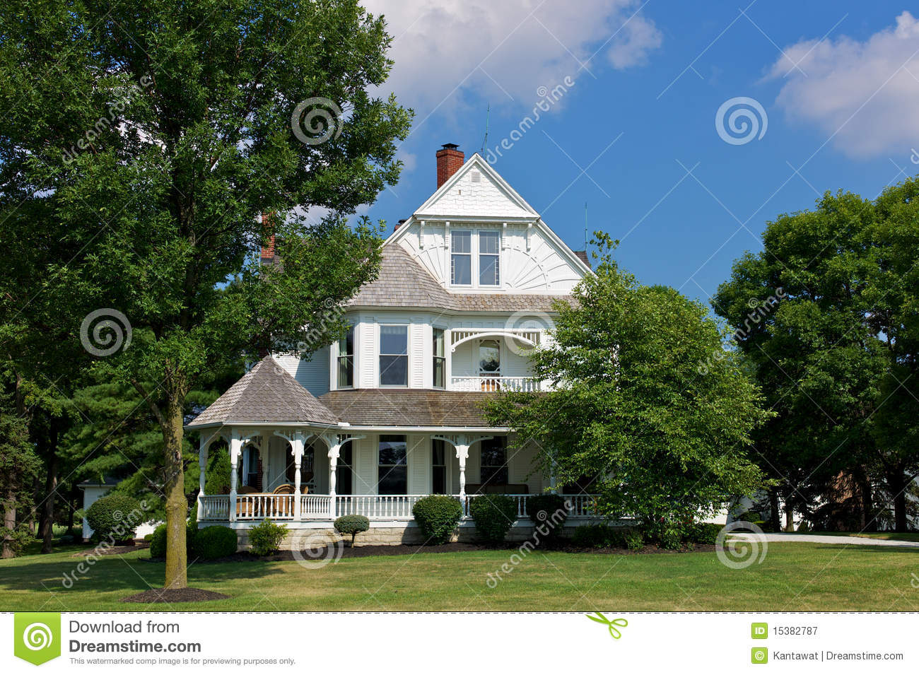 Victorian house with porch royalty free stock photography - Plan de maison victorienne ...