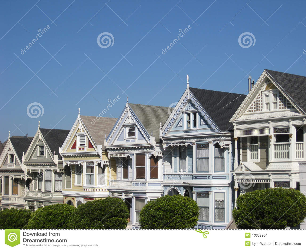 Victorian houses in san francisco stock photo for Houses in san francisco
