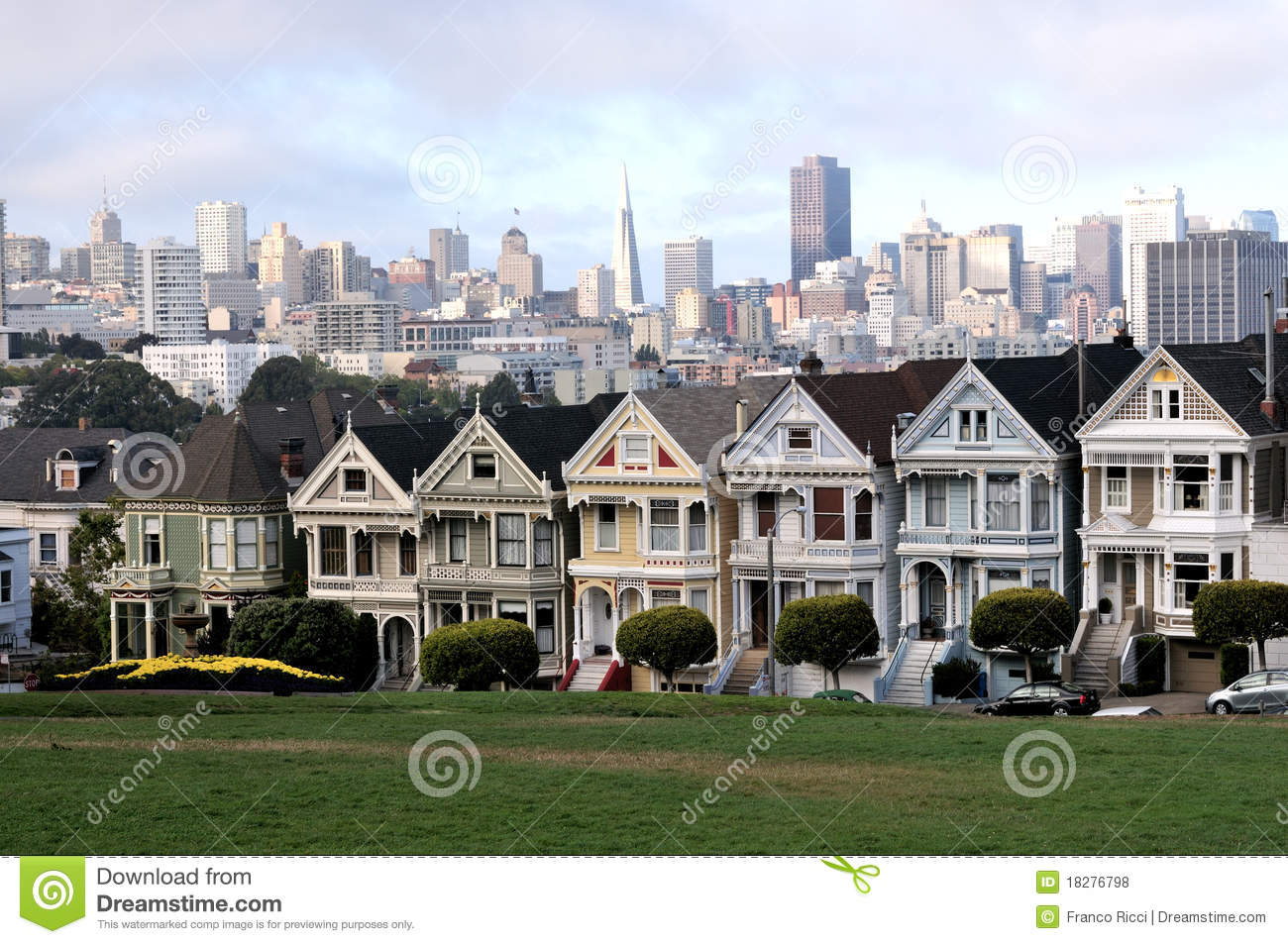 Victorian Houses In San Francisco Royalty Free Stock