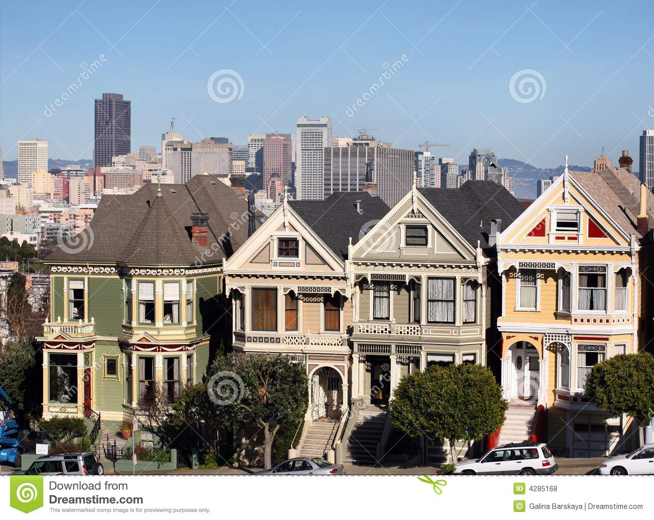 Victorian houses in san francisco stock photo image 4285168 for San francisco victorian houses history