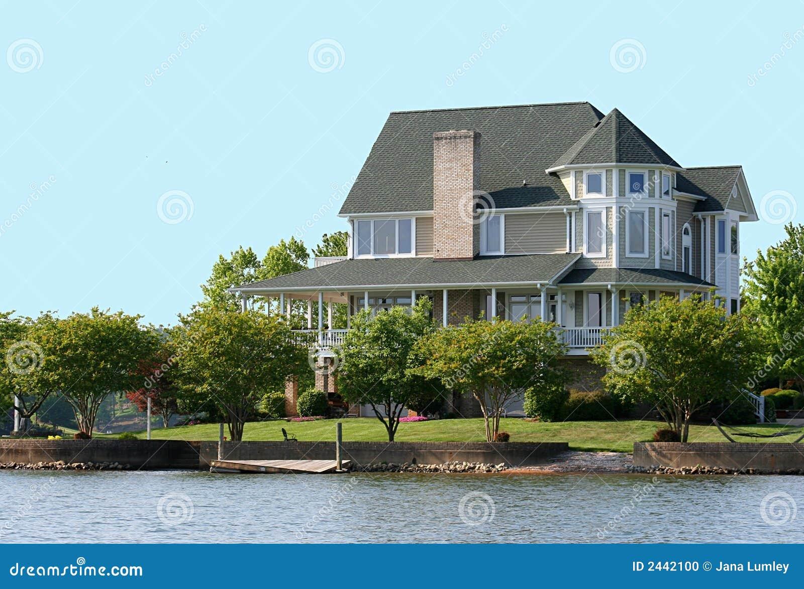 Victorian Lake Home Stock Photo Image 2442100