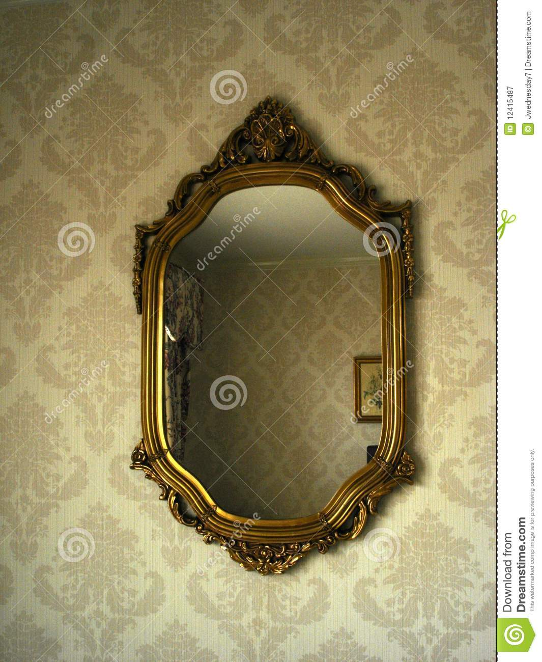 Victorian mirror stock image image of decoration for Victorian mirror