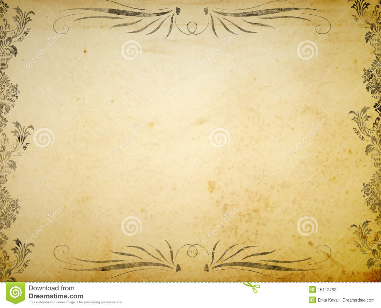 Victorian Ornament Background Stock Photos - Image: 15112793