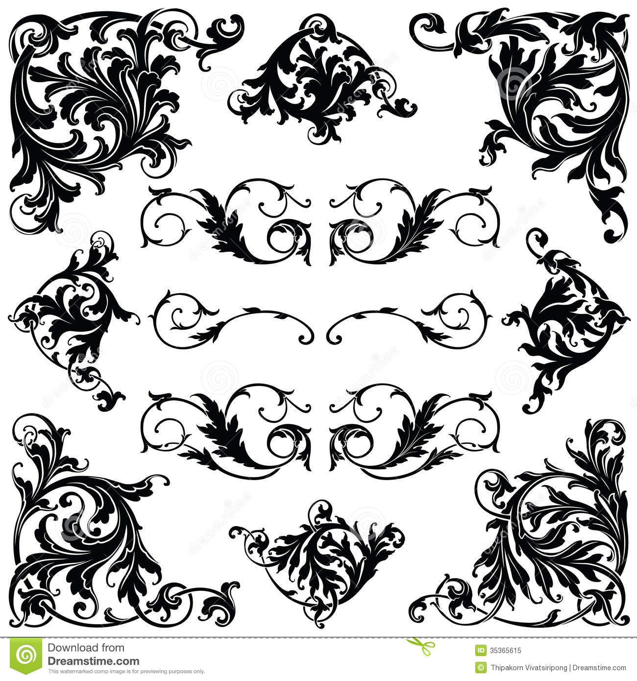 Victorian Ornament Royalty Free Stock Photo Image 35365615