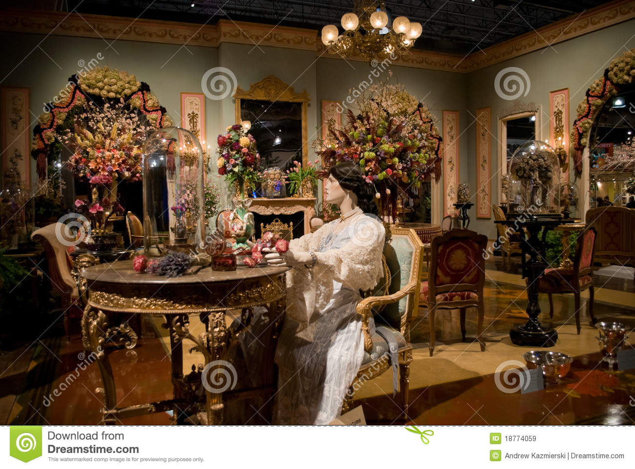 Victorian Room Flower Show Editorial Stock Image Image Of