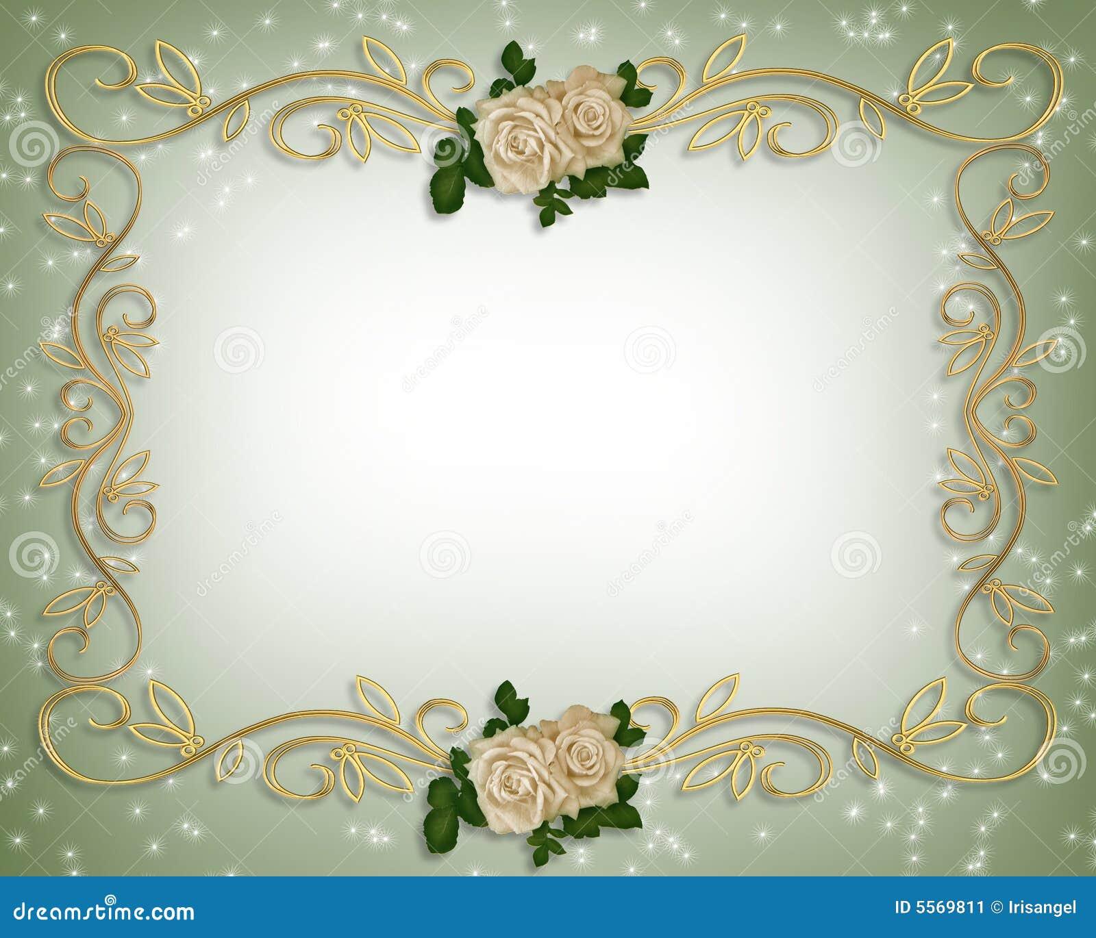 rose wedding invitation background - photo #44