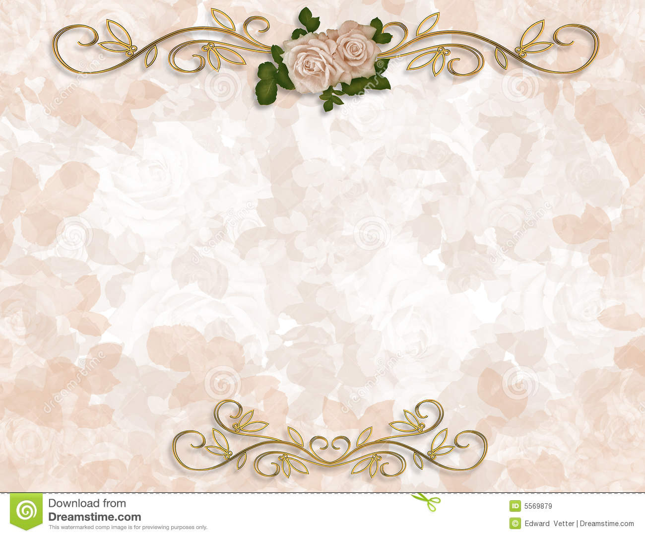 Victorian Roses Wedding Invitation Stock Illustration Illustration