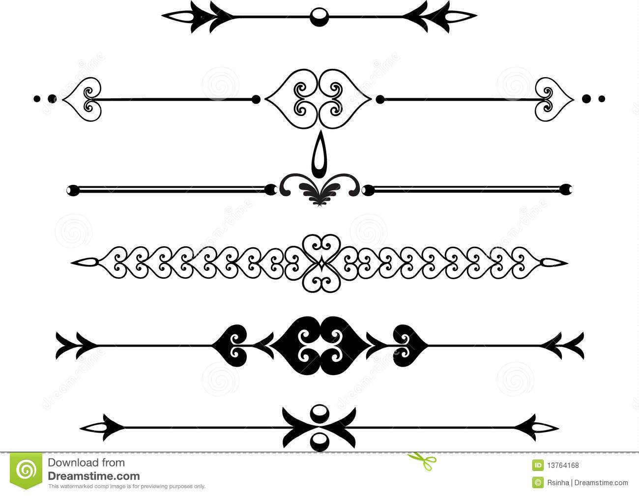 Victorian Rule Lines Or Scrolls Stock Vector Image 13764168