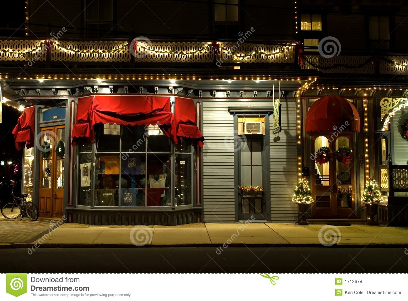 Victorian Storefront At Christmas Stock Photo Image 1713678