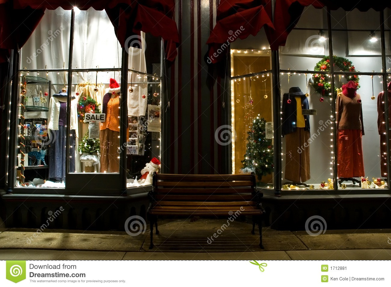 Victorian Storefront At Christmas 2 Stock Image Image