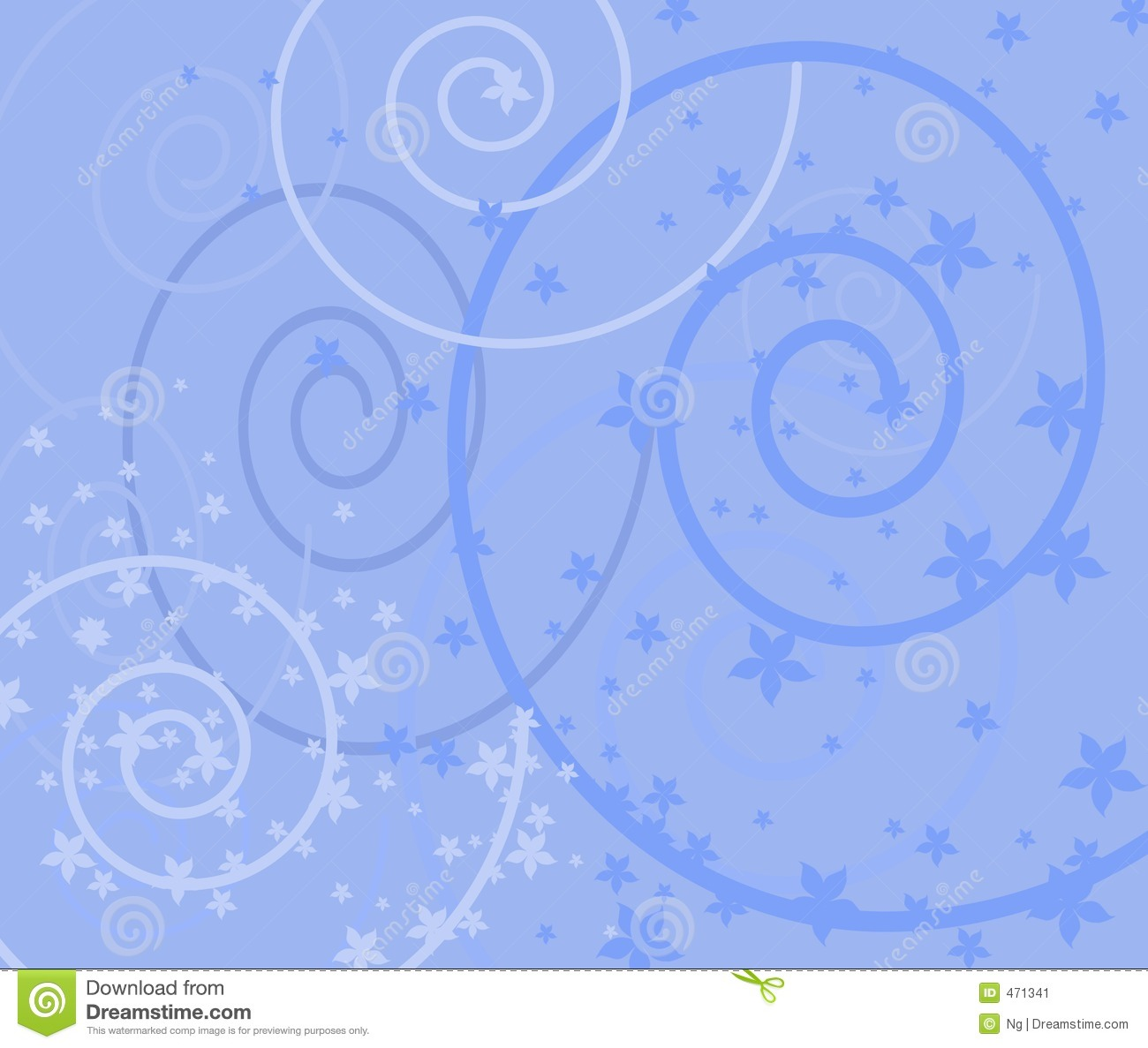 Victorian style blue background