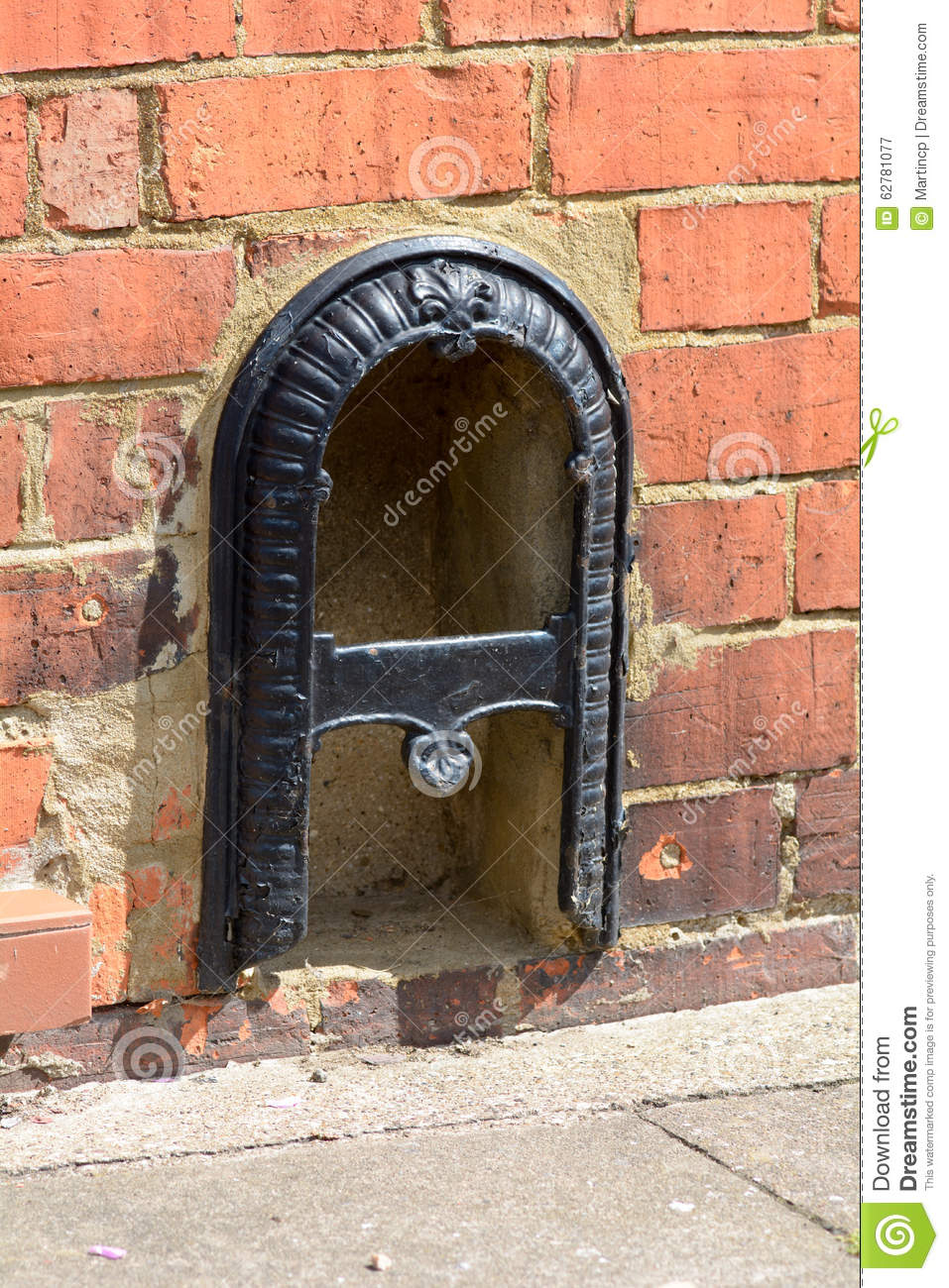 Victorian Style Boot Scraper Outside House Stock Image