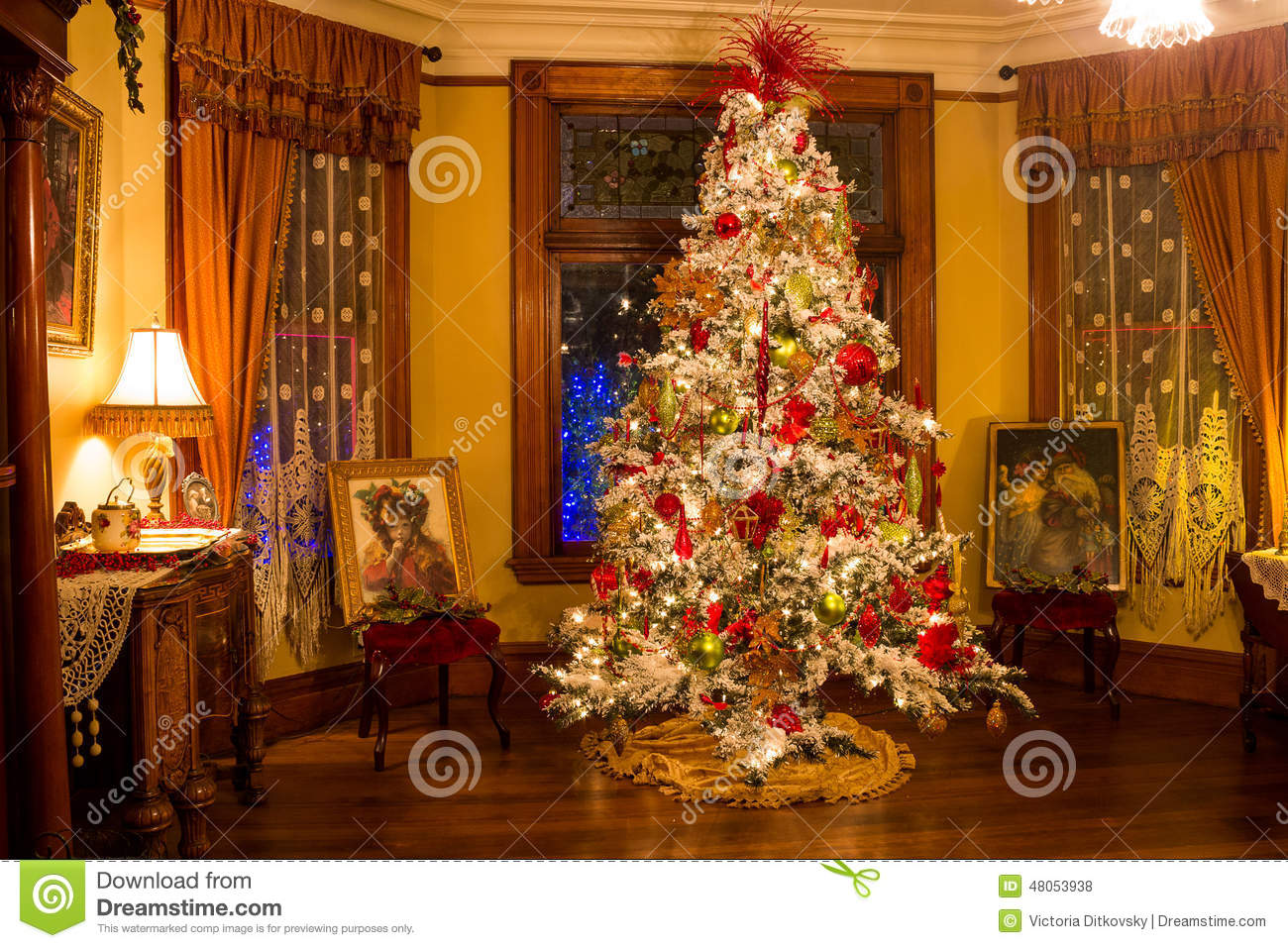 victorian style christmas tree editorial stock photo On style christmas
