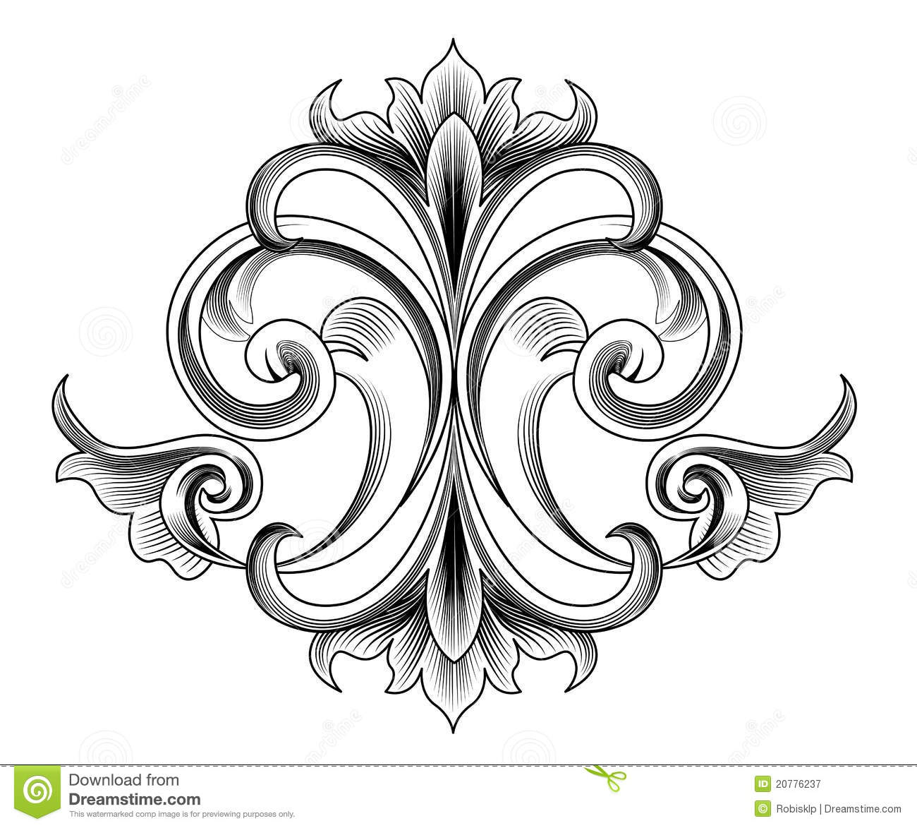 Victorian style decoration stock vector image of label for Victorian style