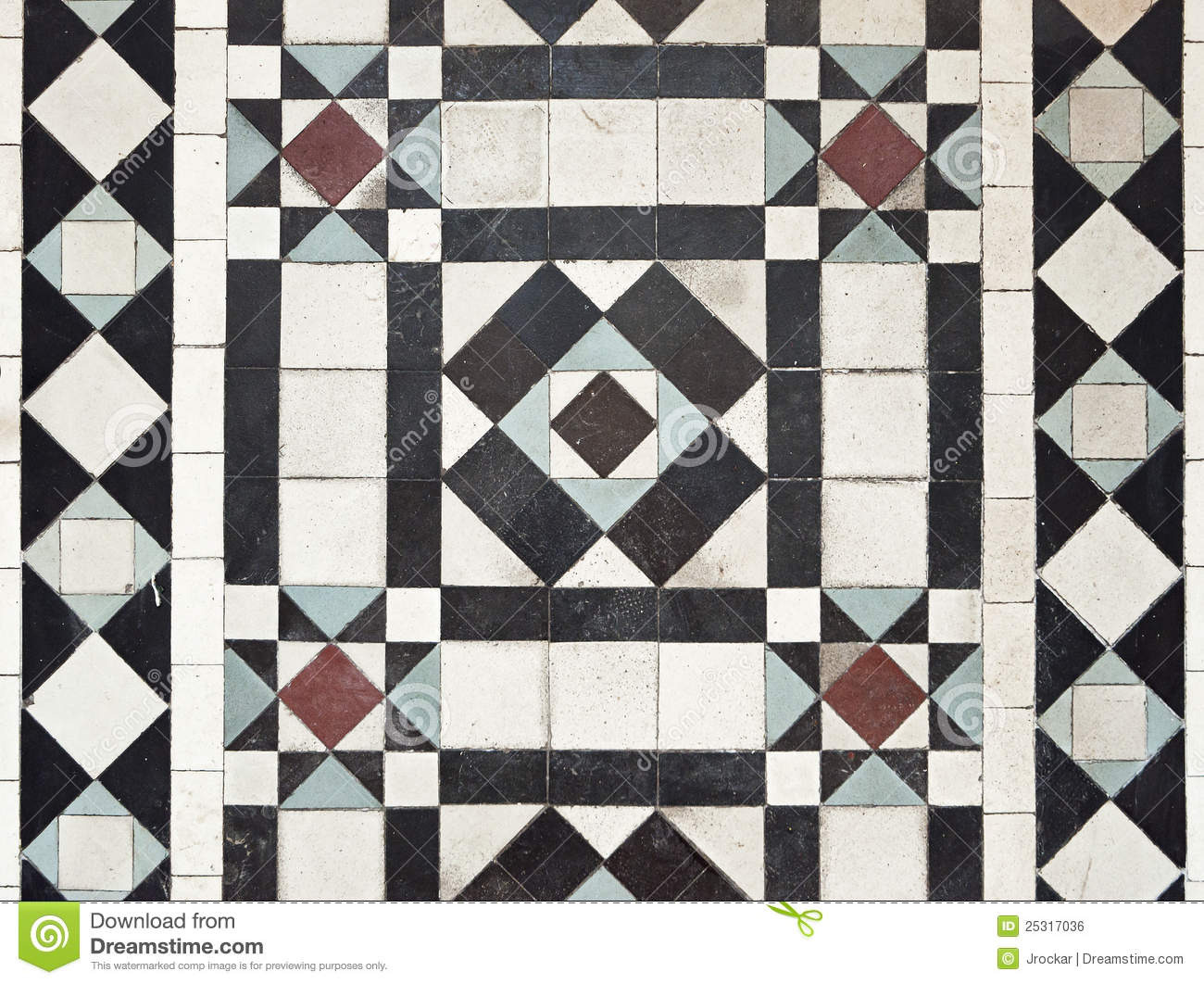 Victorian Style Floor Tile Pattern Stock Image - Image of corridor ...