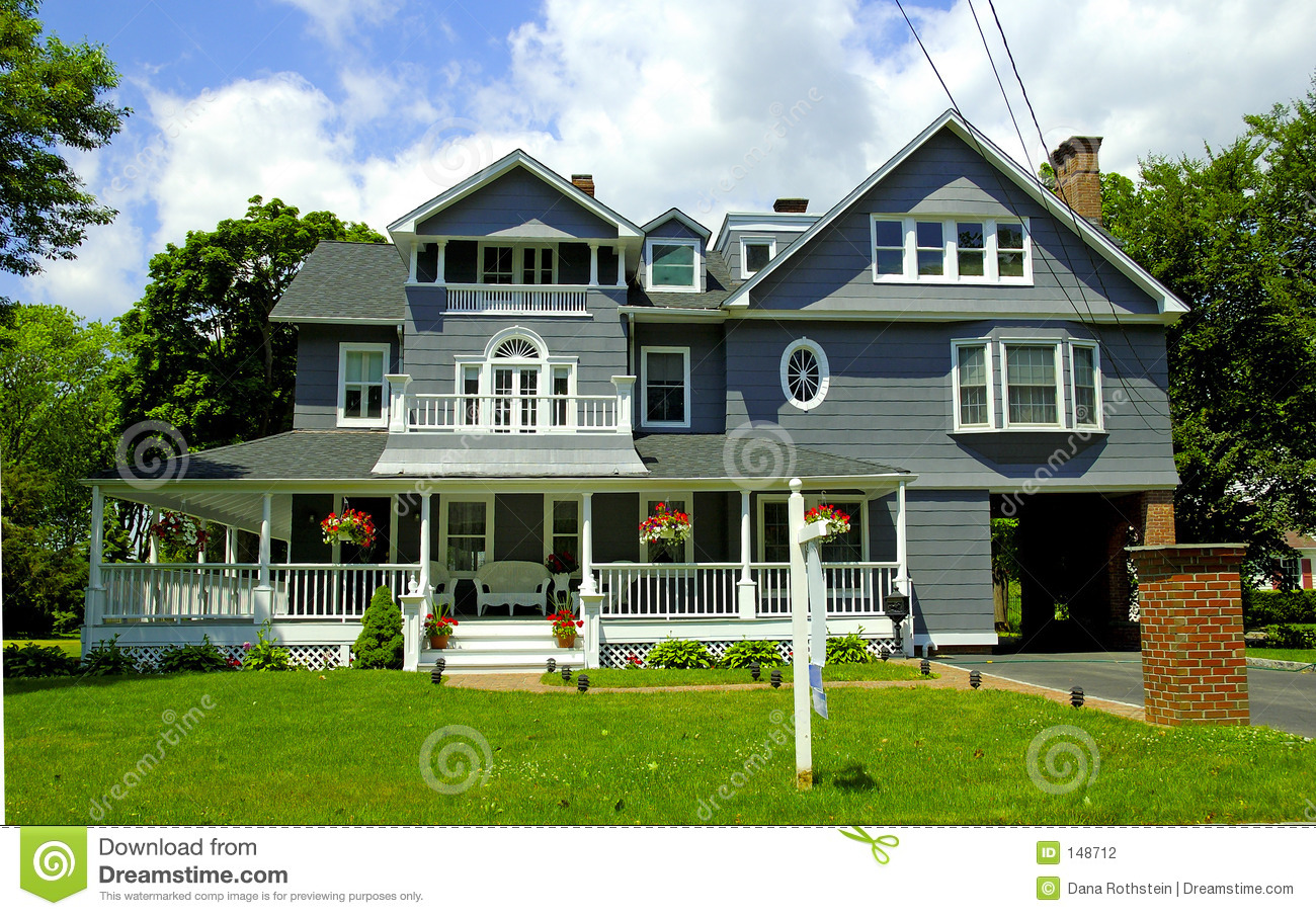Beach house plans beach home plans beach house plan - Victorian Style Home Stock Photography Image 148712