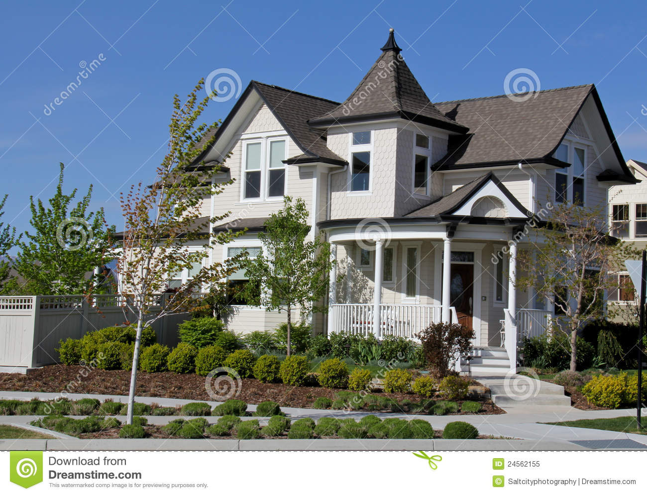 Victorian style house in utah stock image image of white for Victorian style house