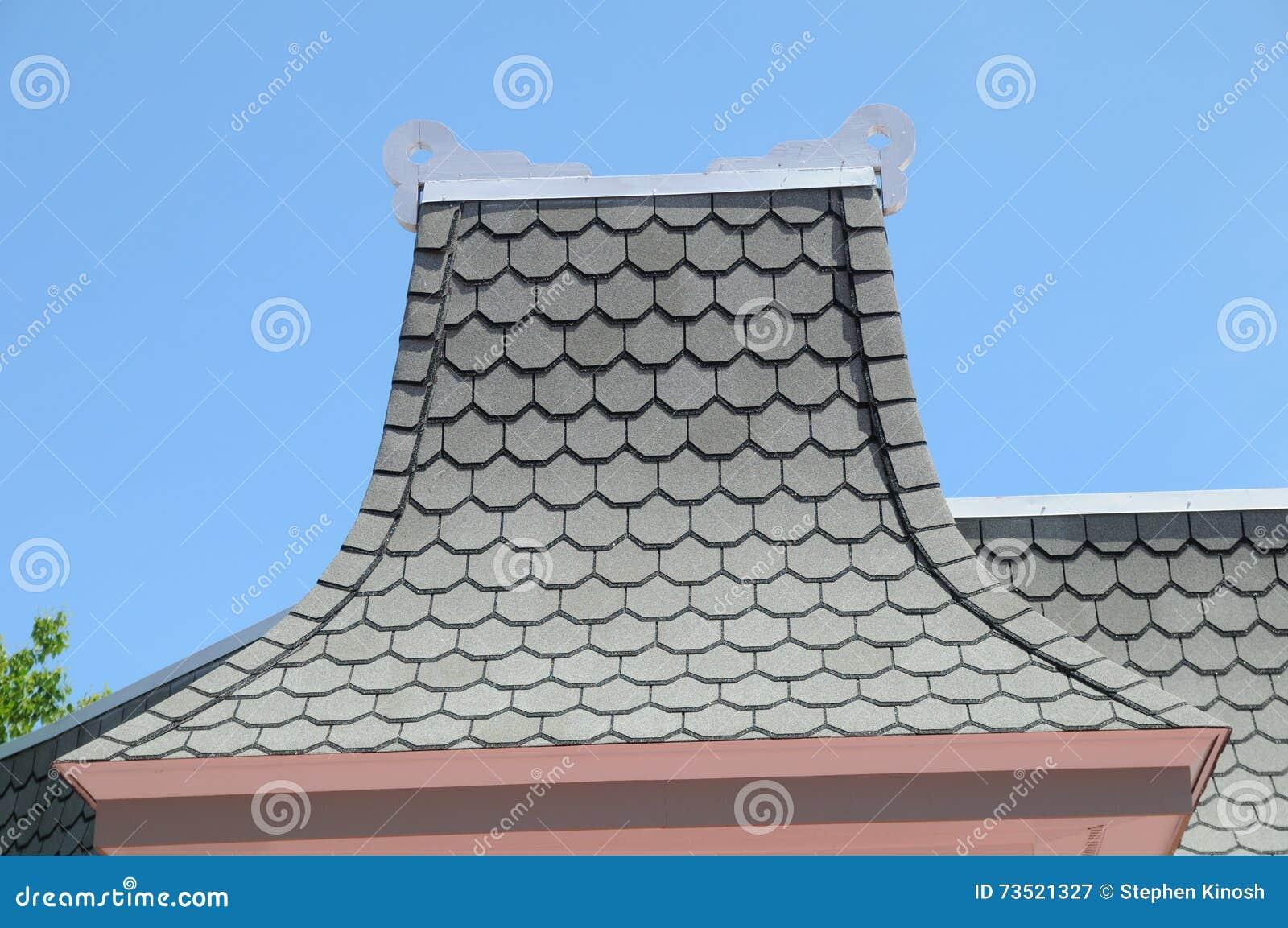 Victorian Style roof peakl in Mackinaw Michigan