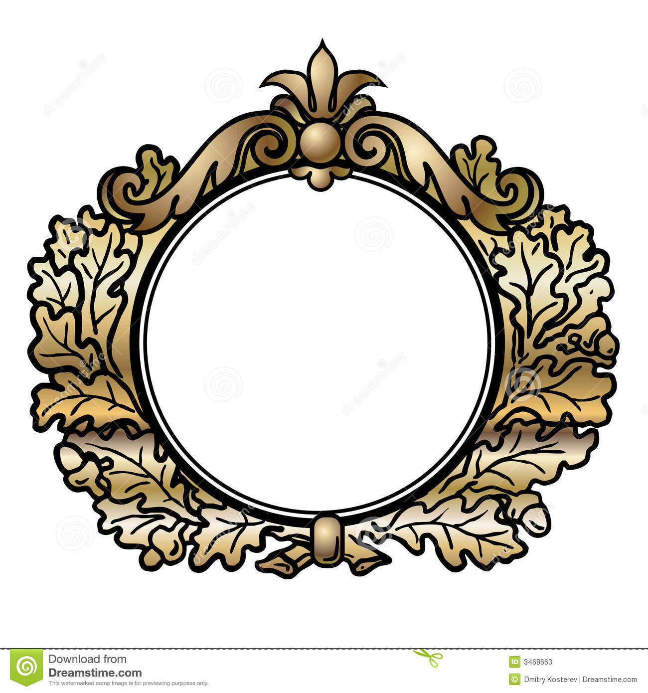 victorian style round frame stock vector illustration of empire rh dreamstime com victorian mirror frame vector round victorian frame vector