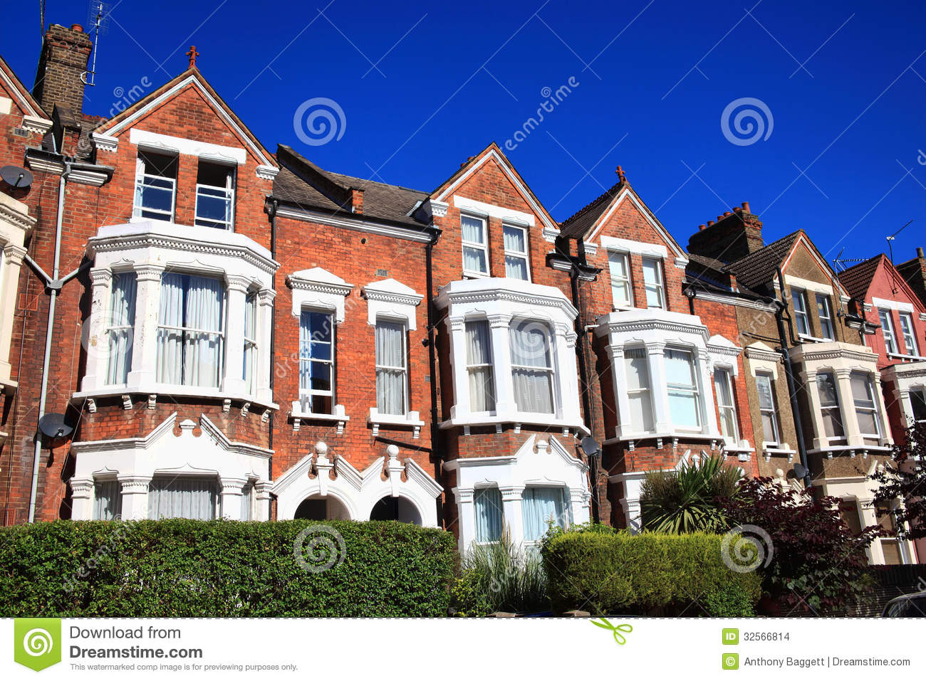 Victorian terraced houses stock photo image of horizontal for What is terrace house