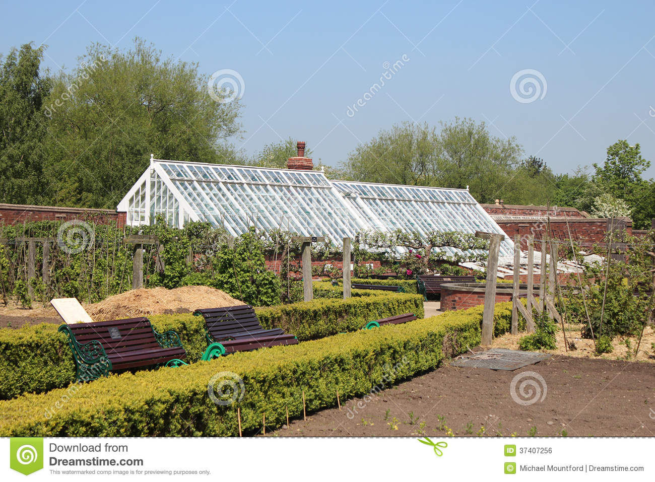 A Victorian Walled Garden Royalty Free Stock Image Image