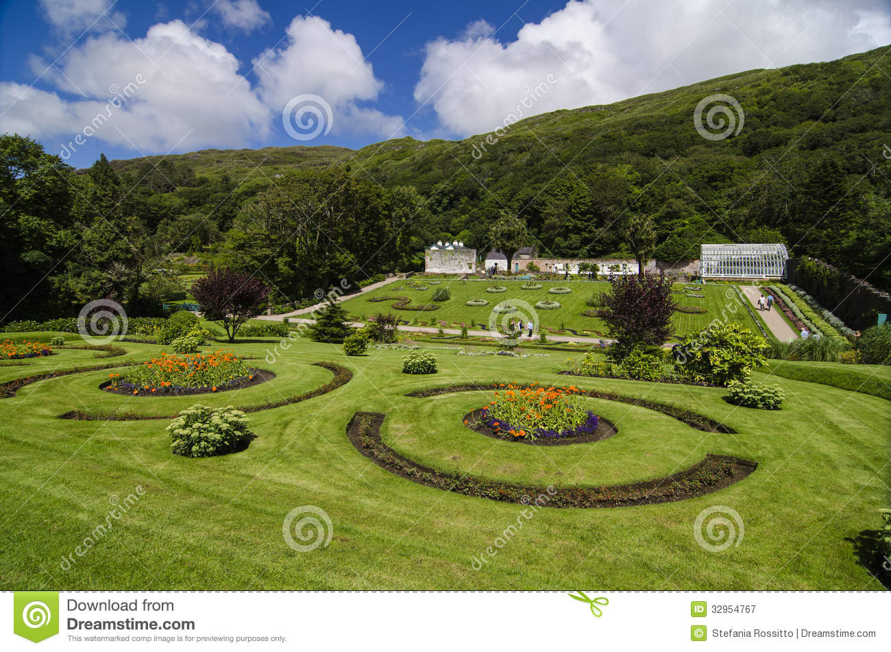 Victorian walled garden royalty free stock photography for Garden design galway