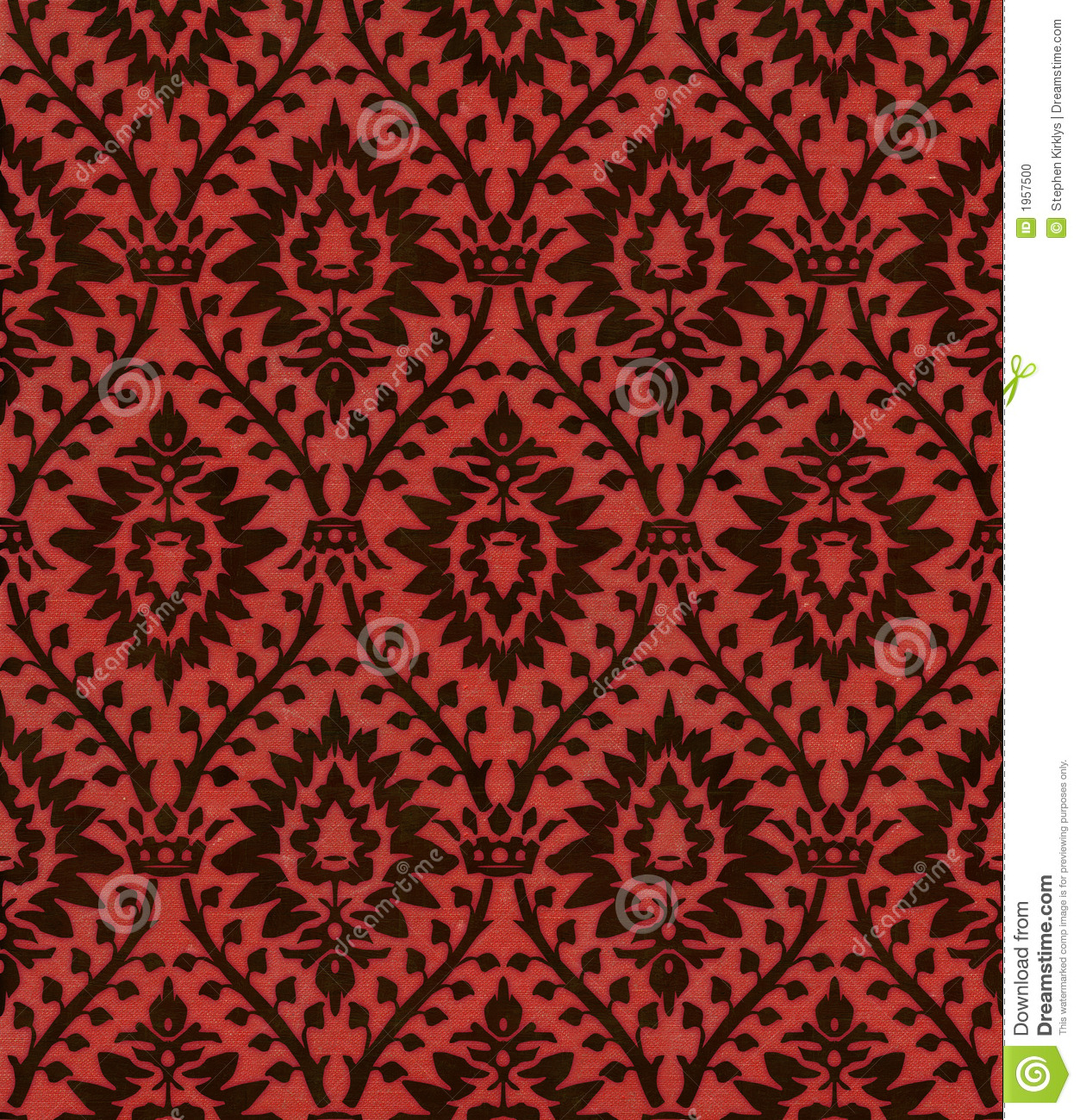 Victorian wallpaper pattern red - photo#16
