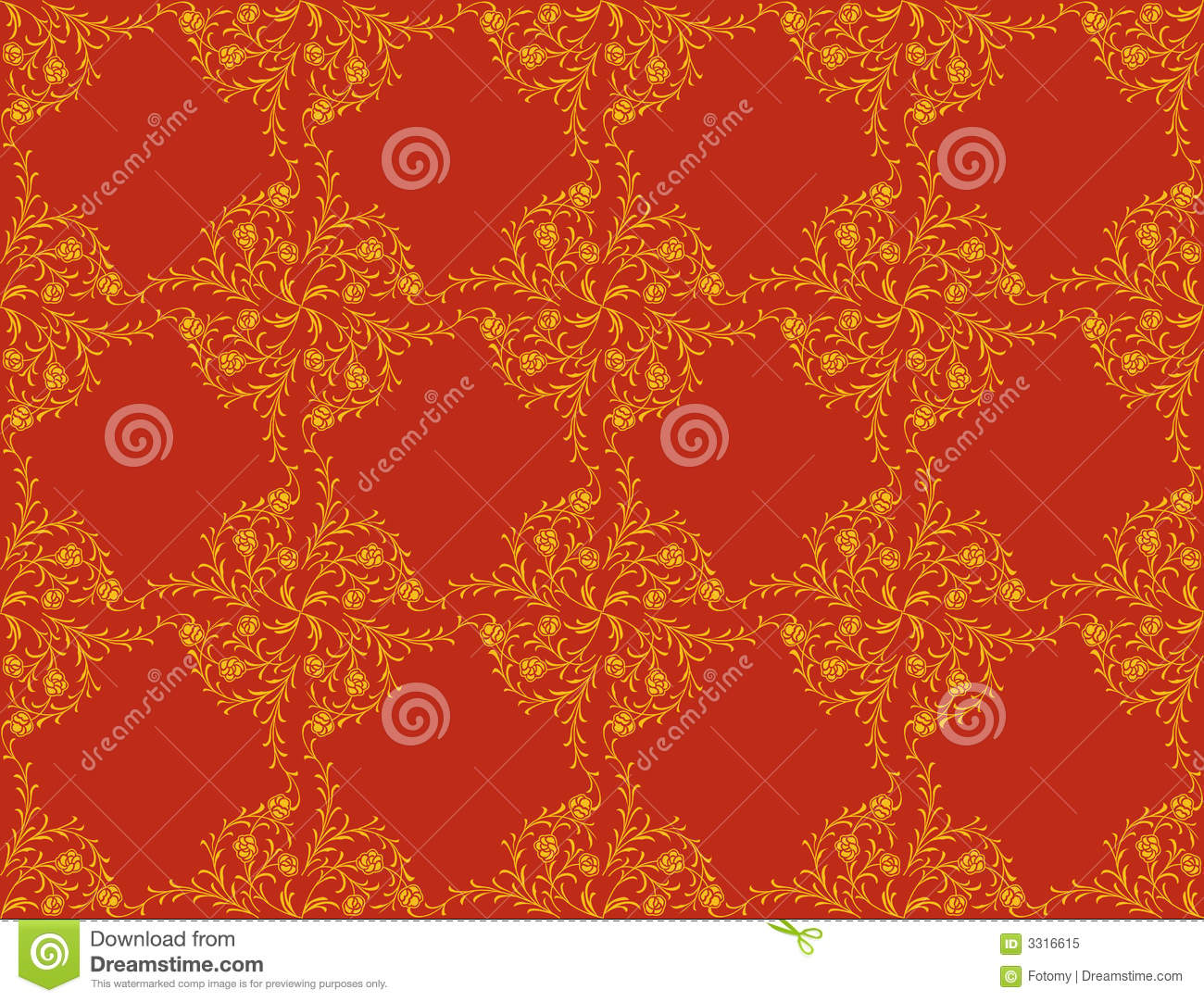 Victorian wallpaper pattern red - photo#19