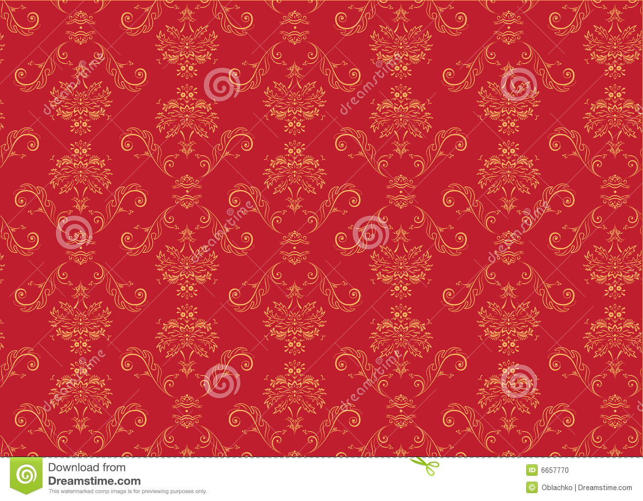 Victorian wallpaper pattern red - photo#17