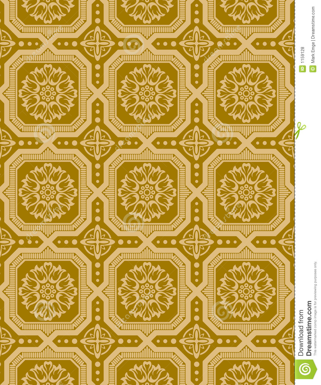 victorian wallpaper vector 3 stock vector