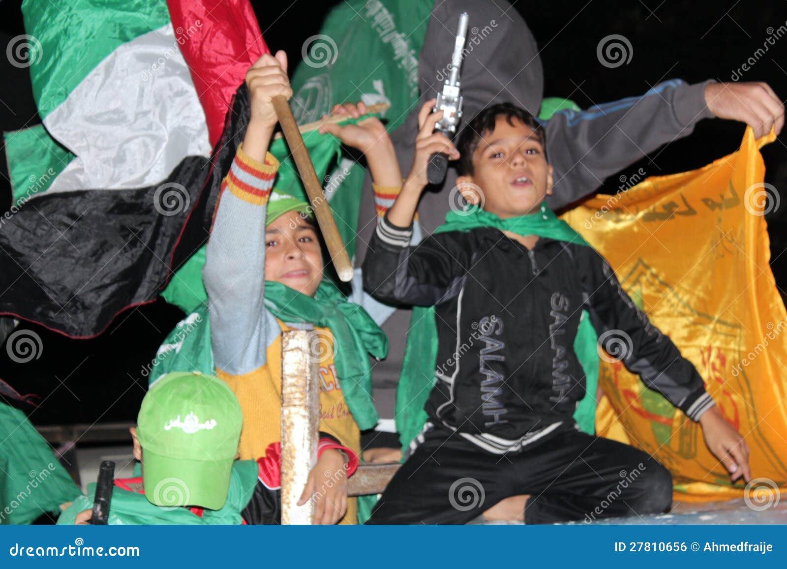 Victory celebrations in Gaza