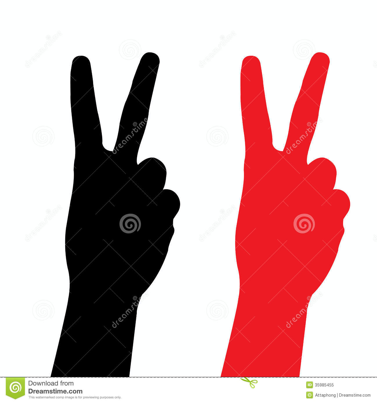 Victory Finger Silhouette Vector Royalty Free Stock Photo - Image ...