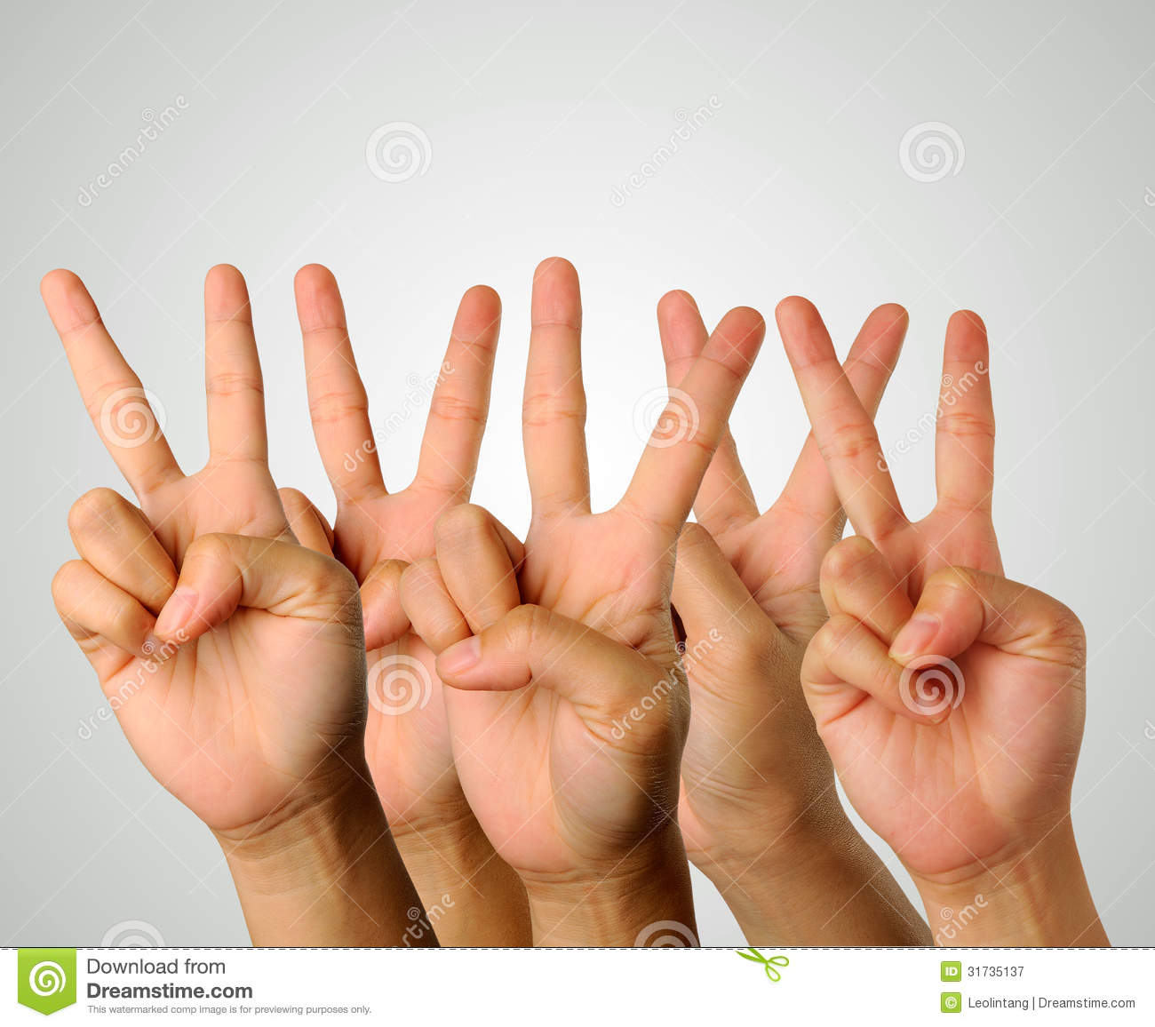 Download Victory Gesture stock image. Image of showing, thumb - 31735137