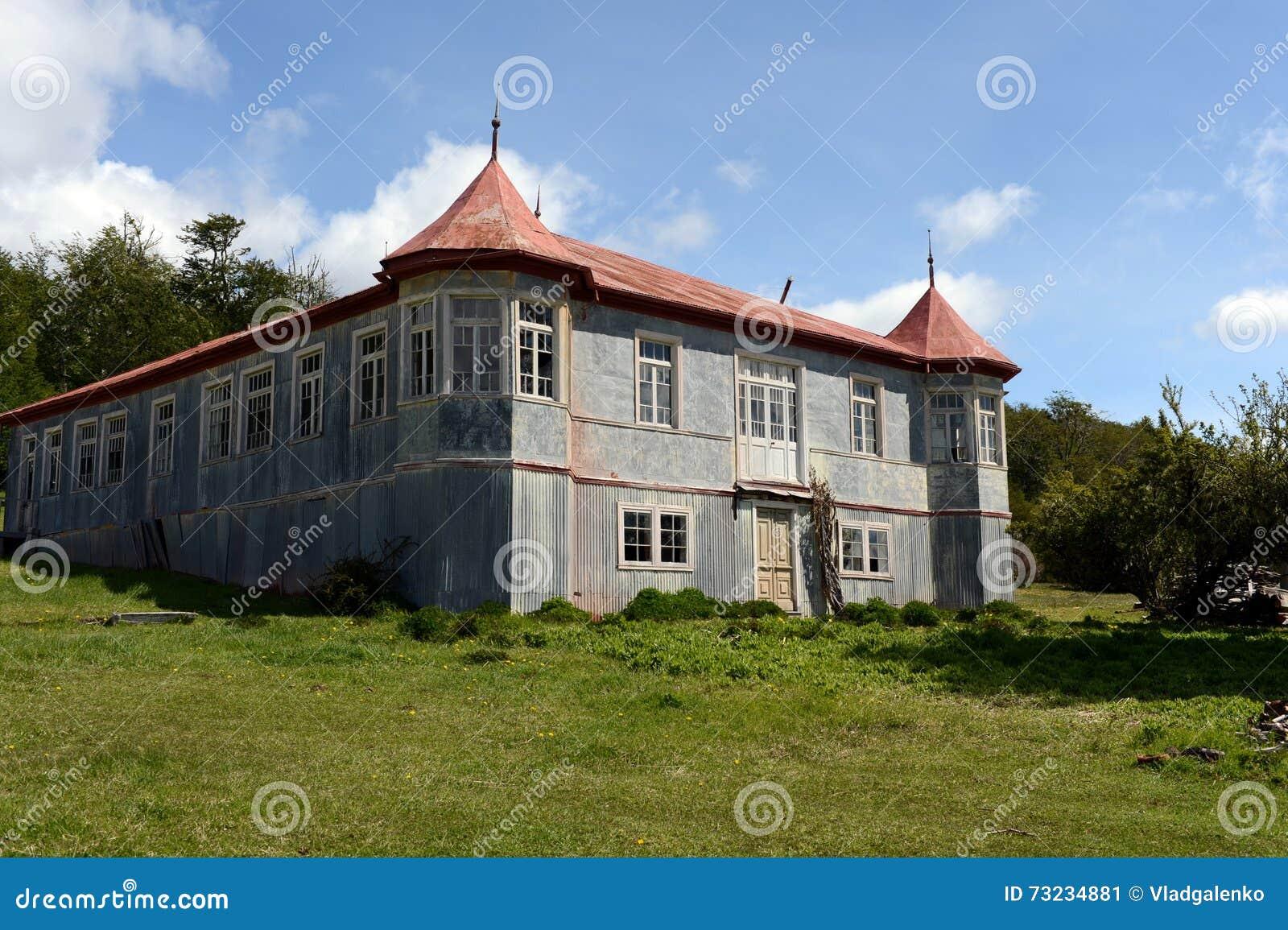 Vicuña del estado del vintage en Tierra del Fuego