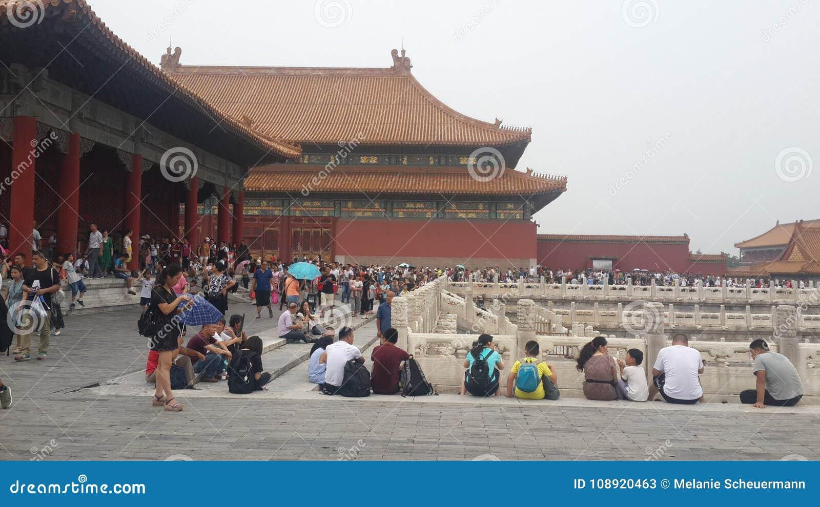 Vida de la ciudad Prohibida en Pekín, China