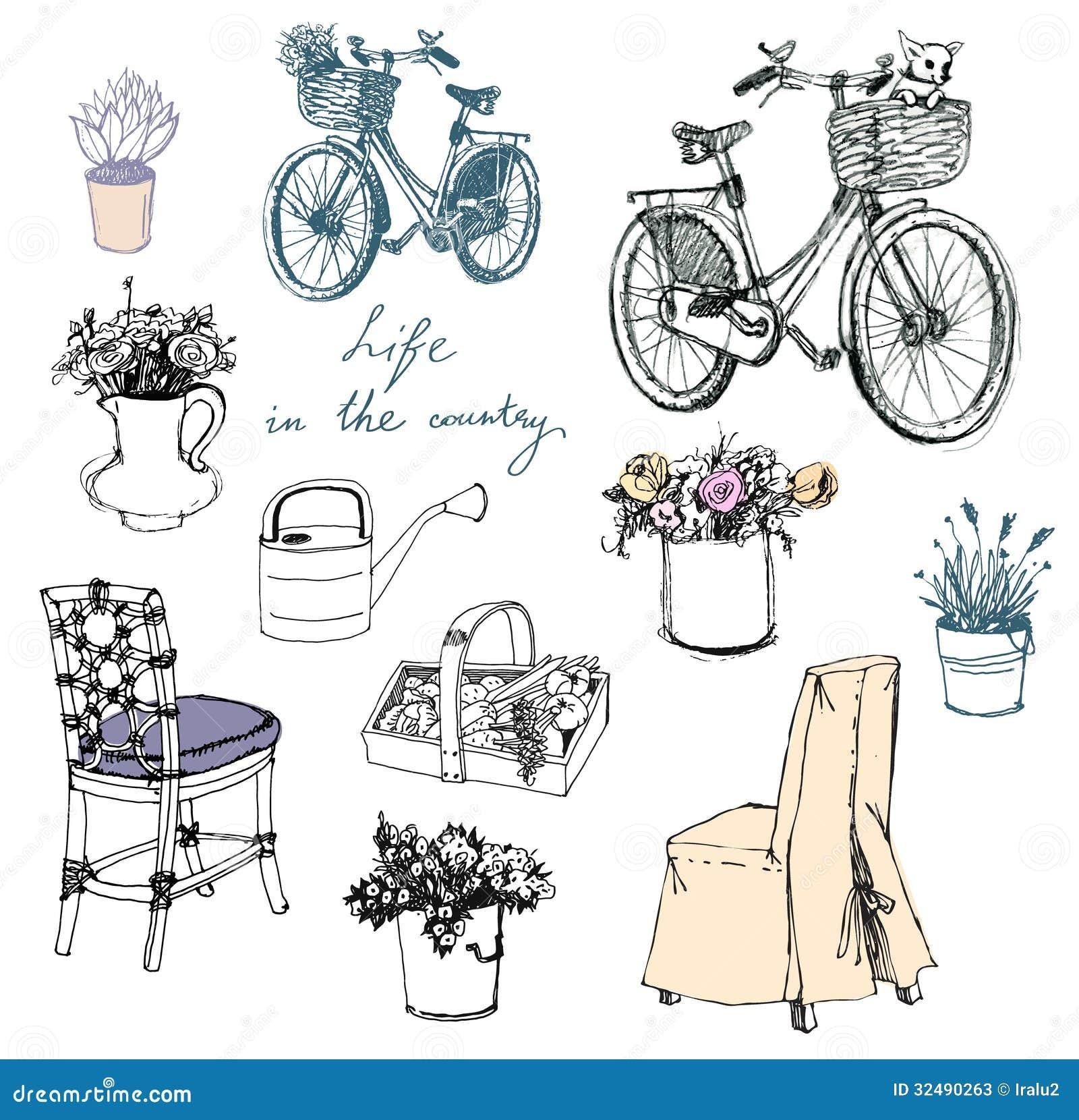 Vida en el campo flores muebles elemento interior for Muebles de teca interior