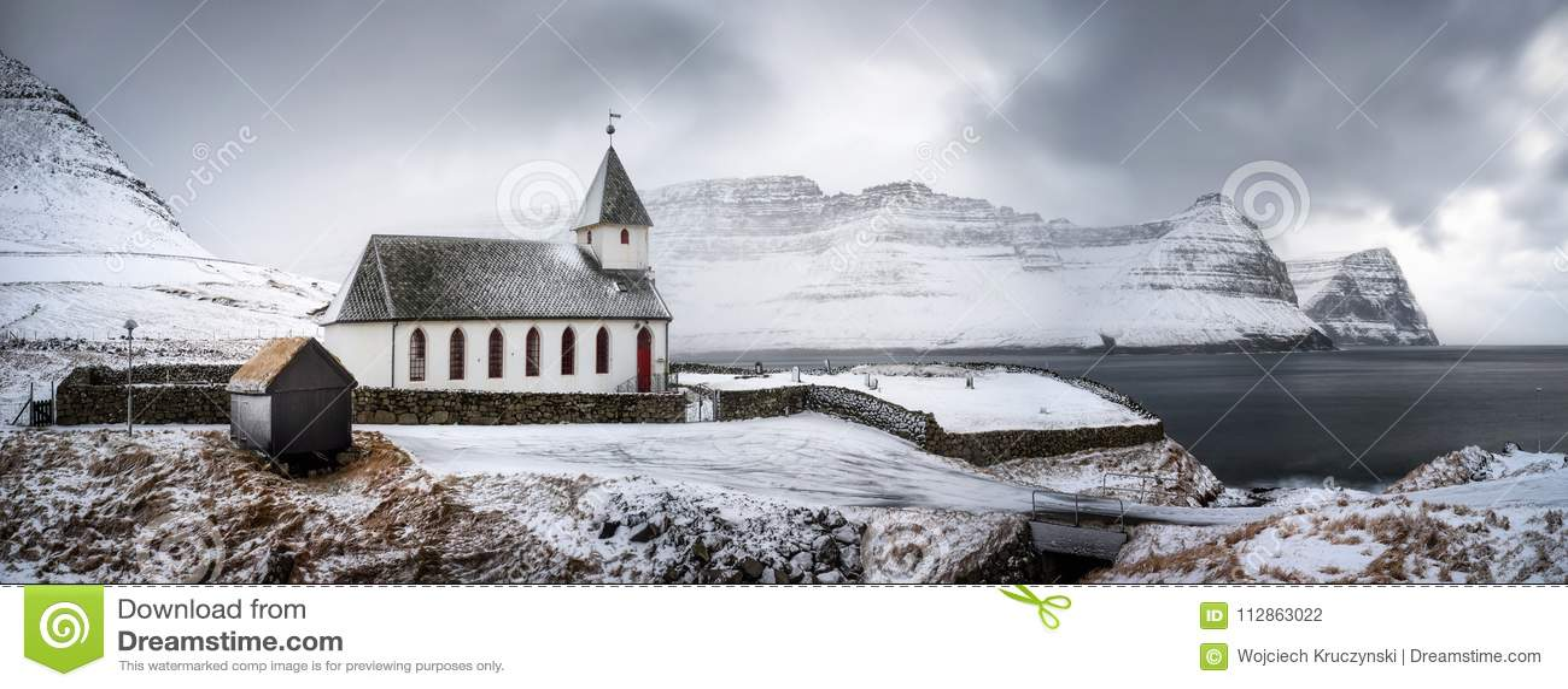 Vidareidi kyrkapanorama