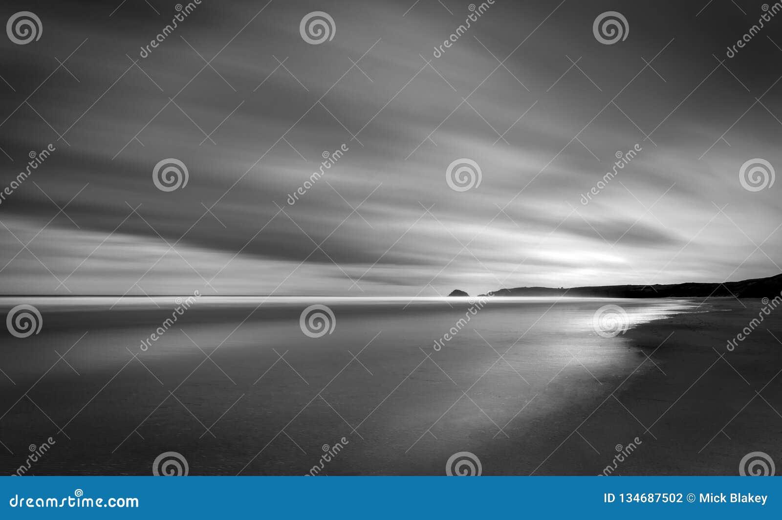 Vidd på stranden, Perran sander, norr Cornwall