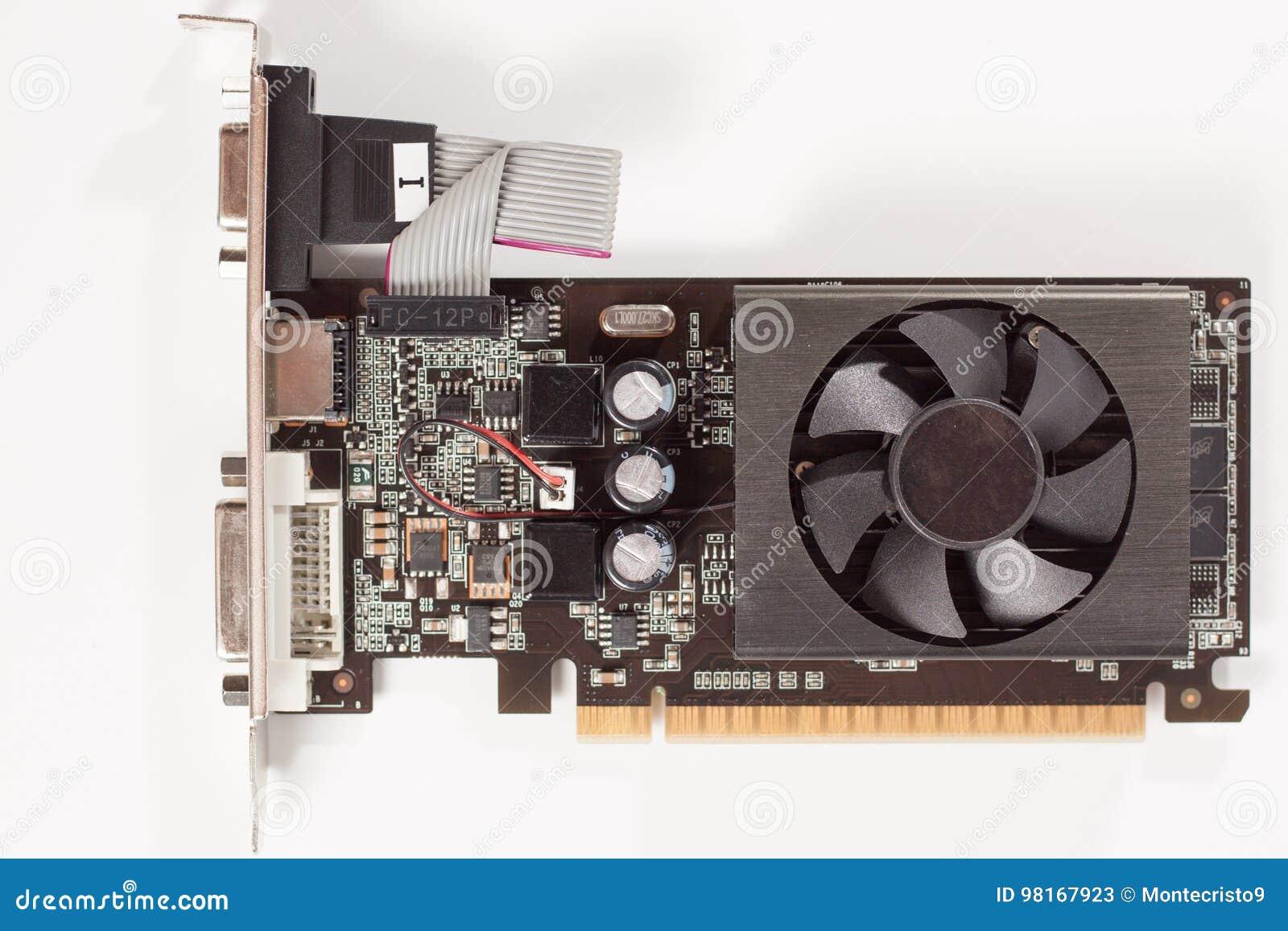 Video adattatore della carta grafica del computer vicino di visualizzazione