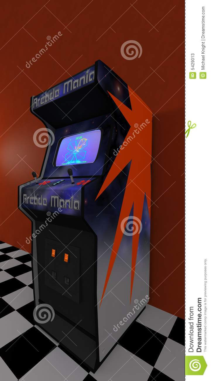 Video Arcade 2 stock illustration  Illustration of video
