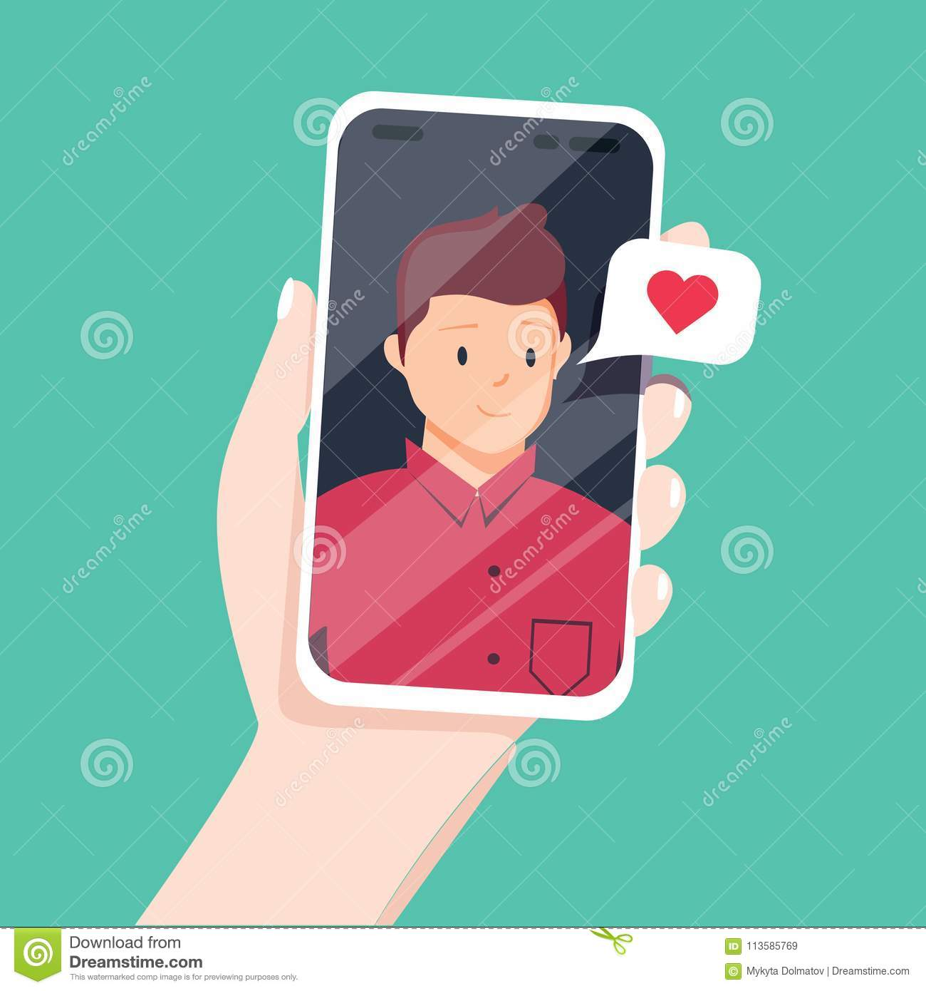 Video Call With Loved One  Female Hand Holding Smartphone