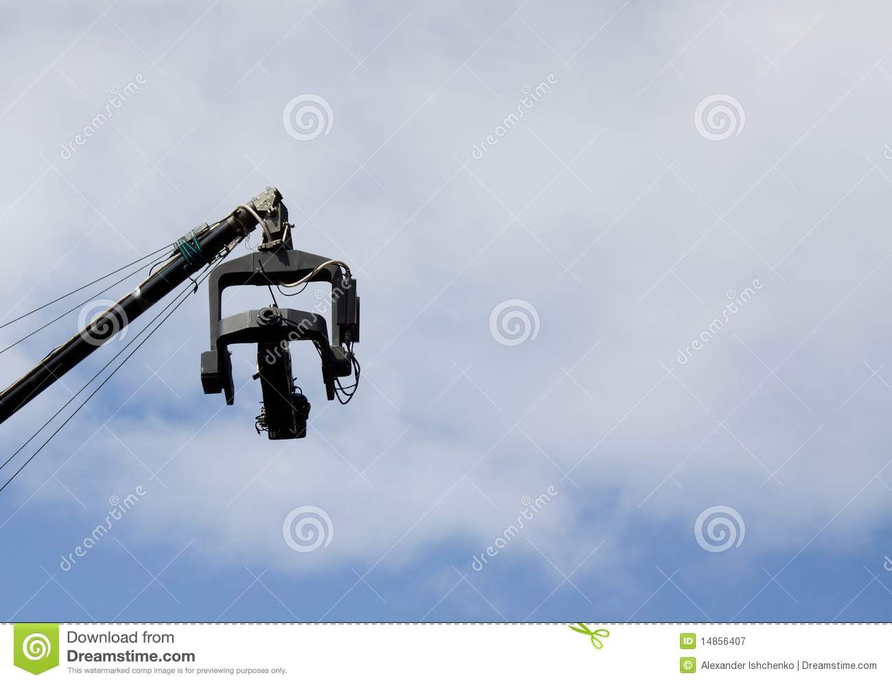 Video camera above the sky.