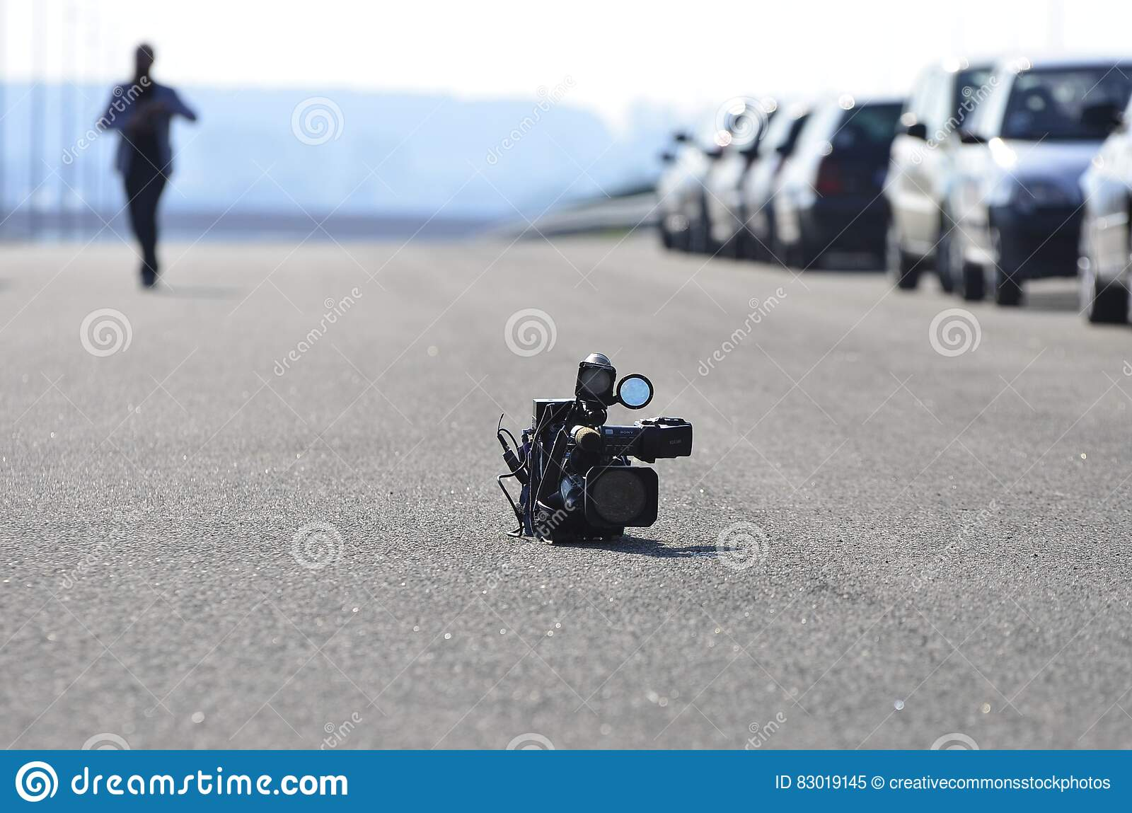 Download Video Camera On Asphalt Road Stock Image - Image of video, road: 83019145