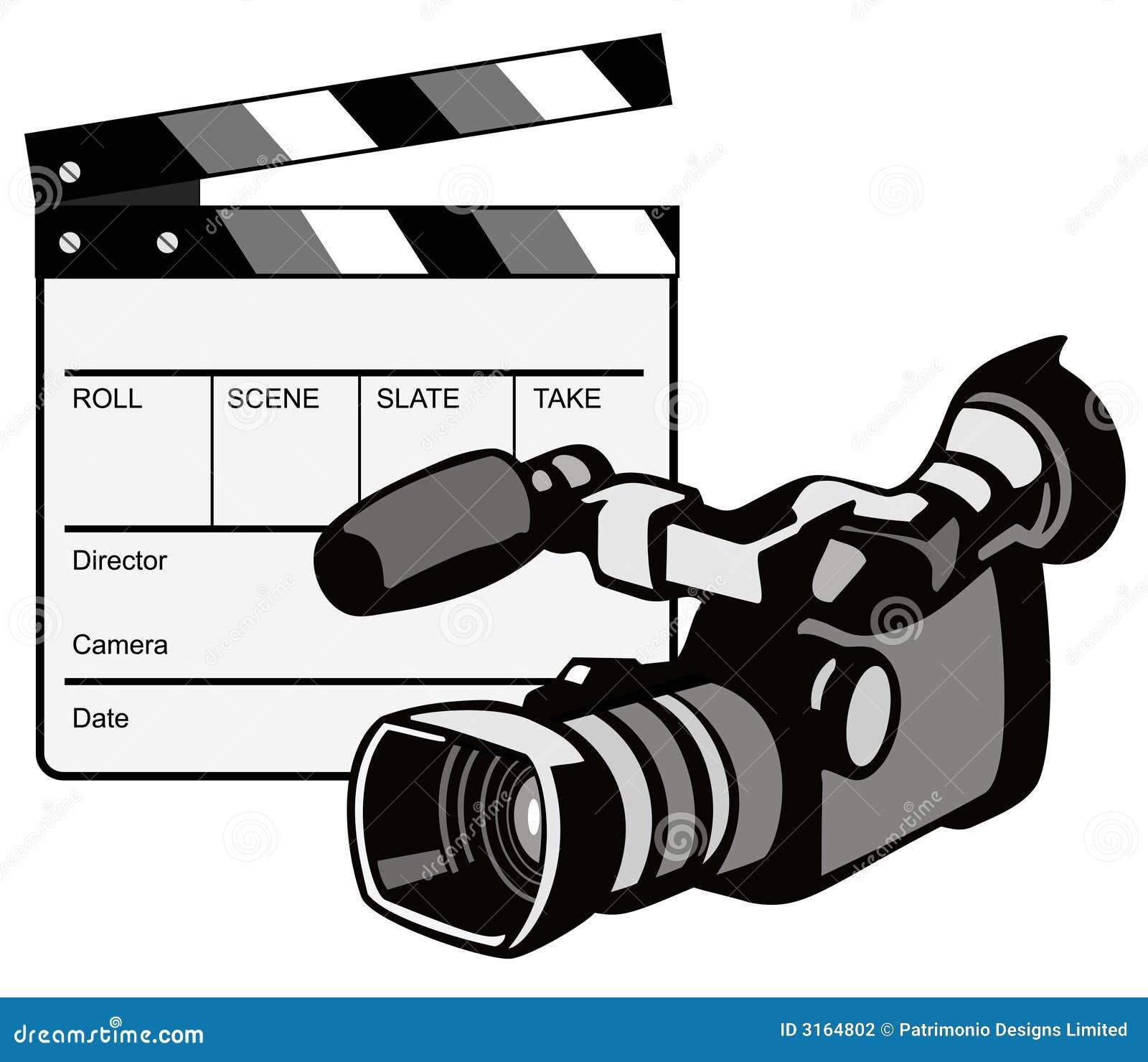 video camera with clapper stock vector illustration of clapper rh dreamstime com clipart caméra vidéo clipart video camera icon