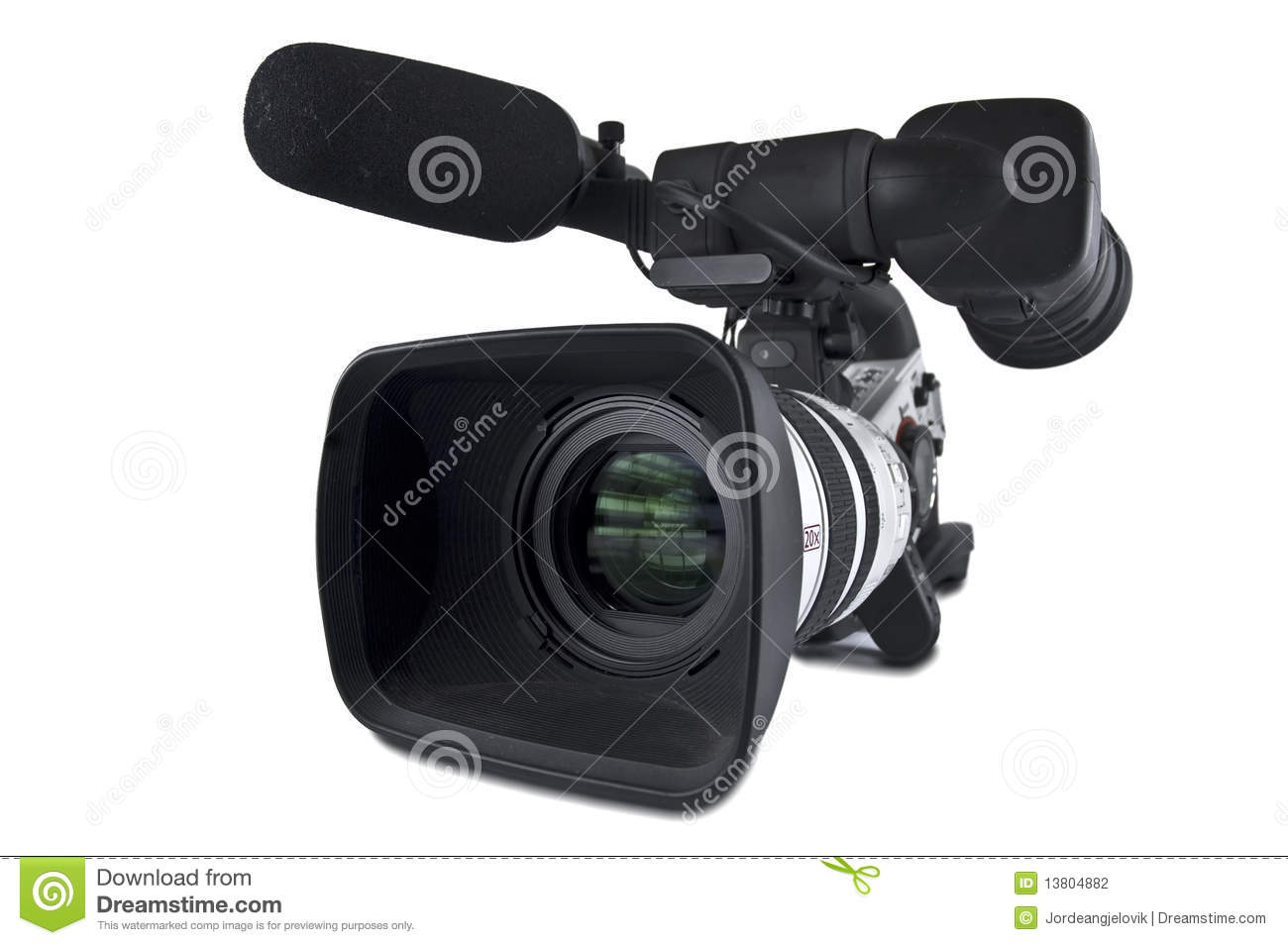 Video Camera (Clipping path)