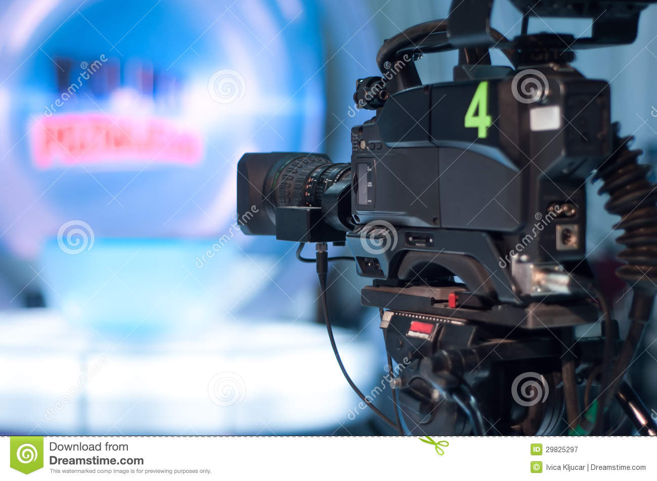Television studio camera royalty free stock photography - Tv in camera ...