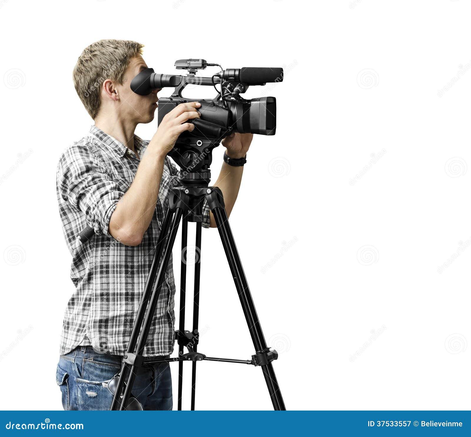 Video Camera Operator Royalty Free Stock Photography - Image: 37533557