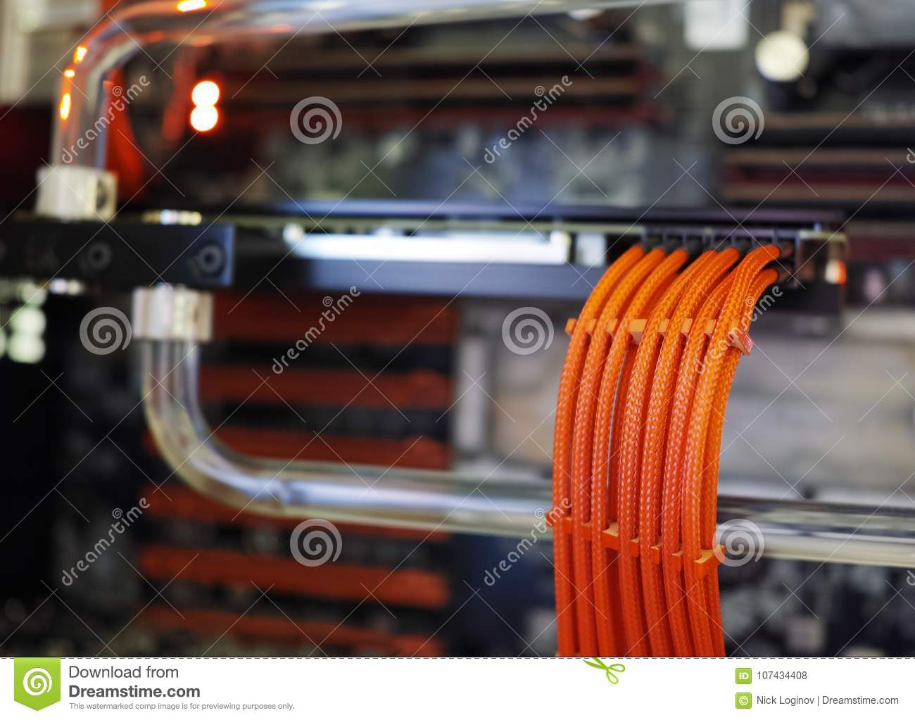 Video Card Power Connector Background Stock Photo Image Of High Wiring Download Blur 107434408