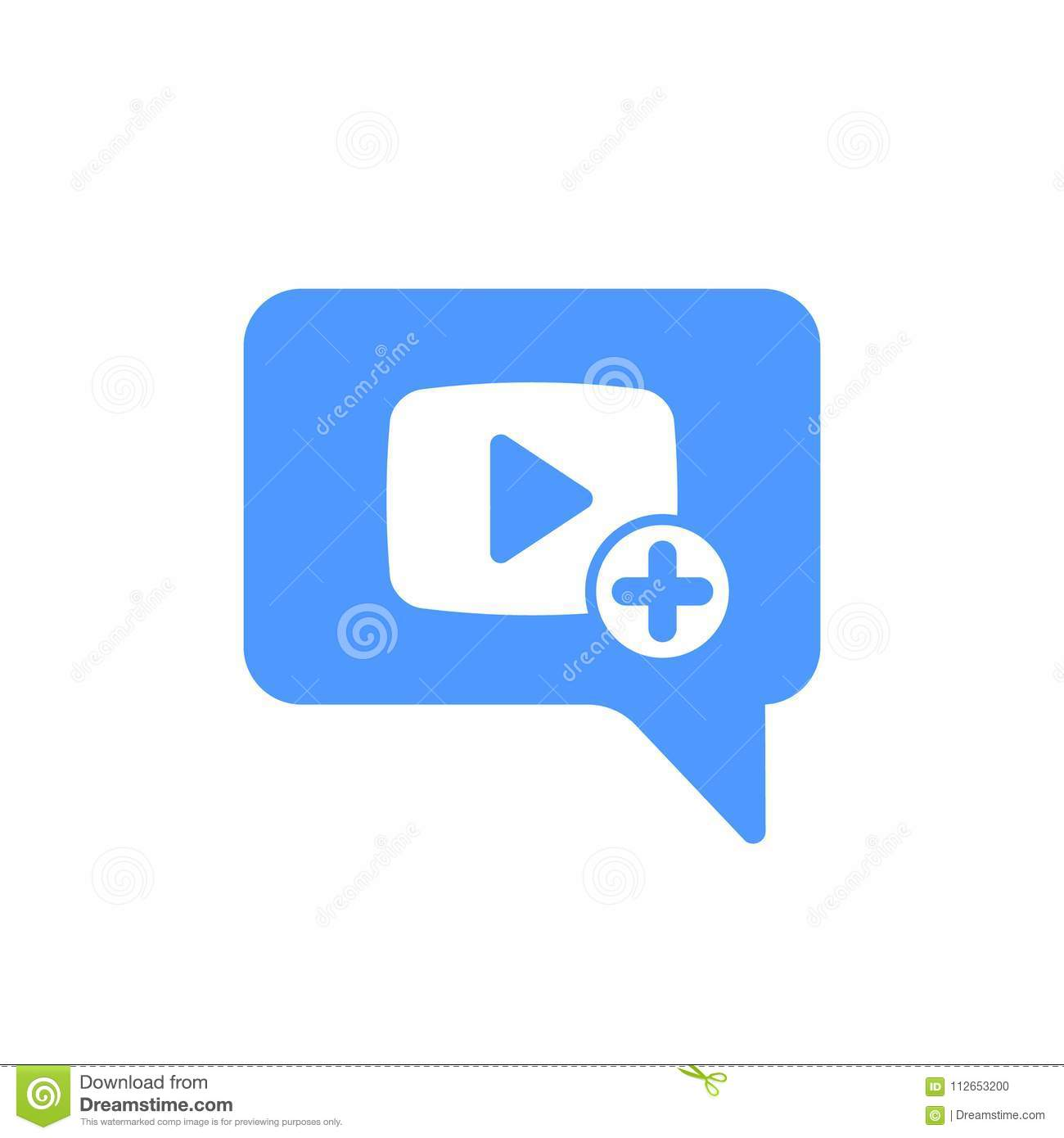 Video Chat Icon With Add Sign Video Chat Icon And New Plus